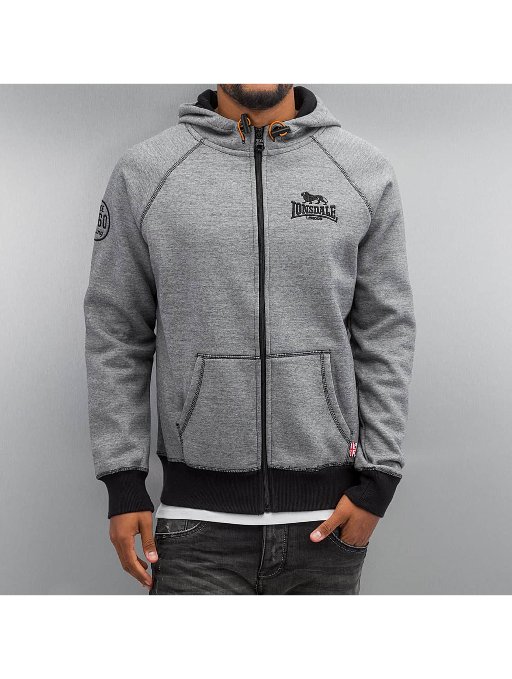 Lonsdale London Zip Hoodie London šedá