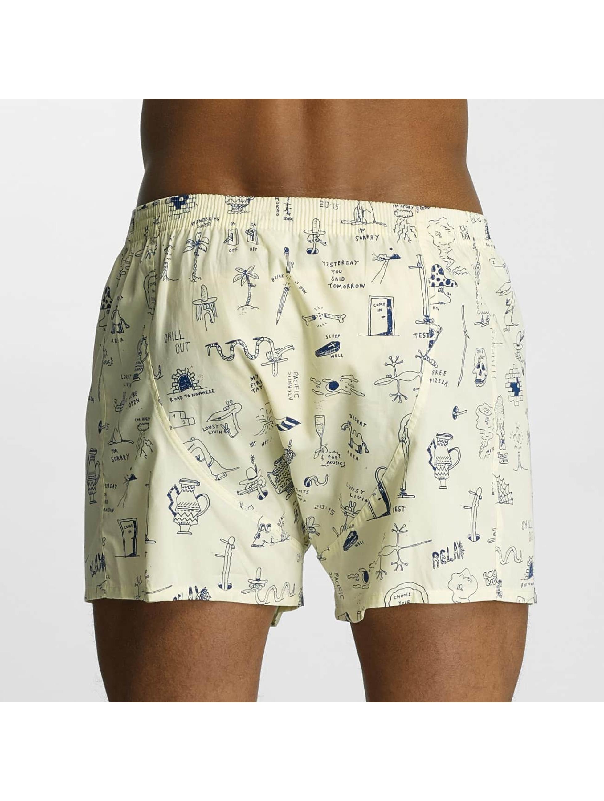 Lousy Livin  Shorts boxeros Tattoo II amarillo