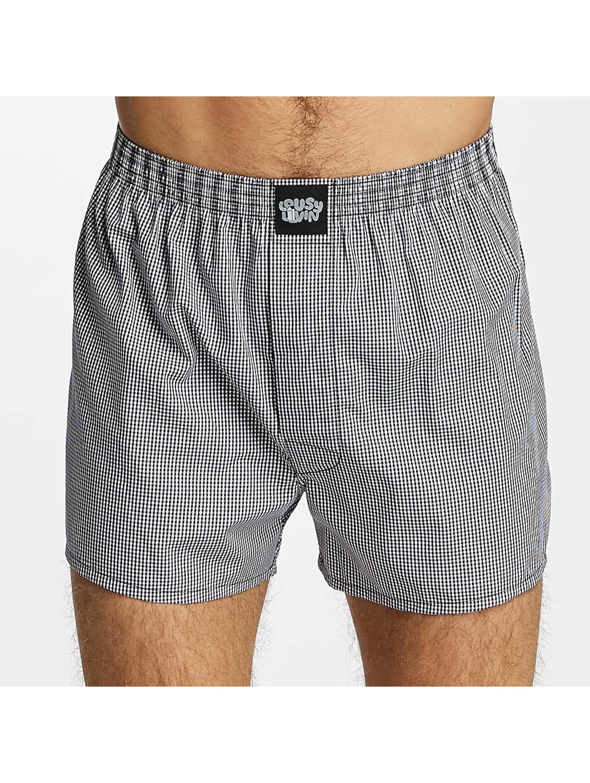 Lousy Livin  Shorts boxeros Lousy Check negro