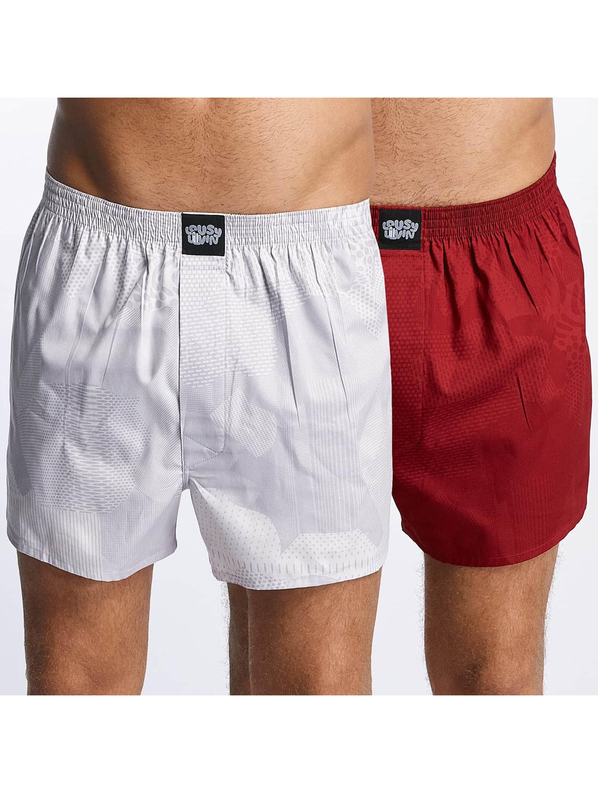 Lousy Livin boxershorts Lousy 2 Pack rood