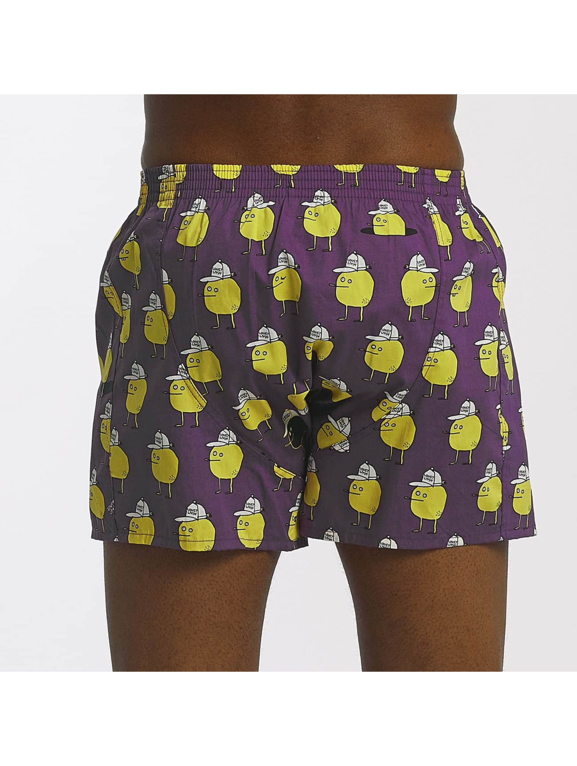 Lousy Livin Boxershorts Zitrone violet