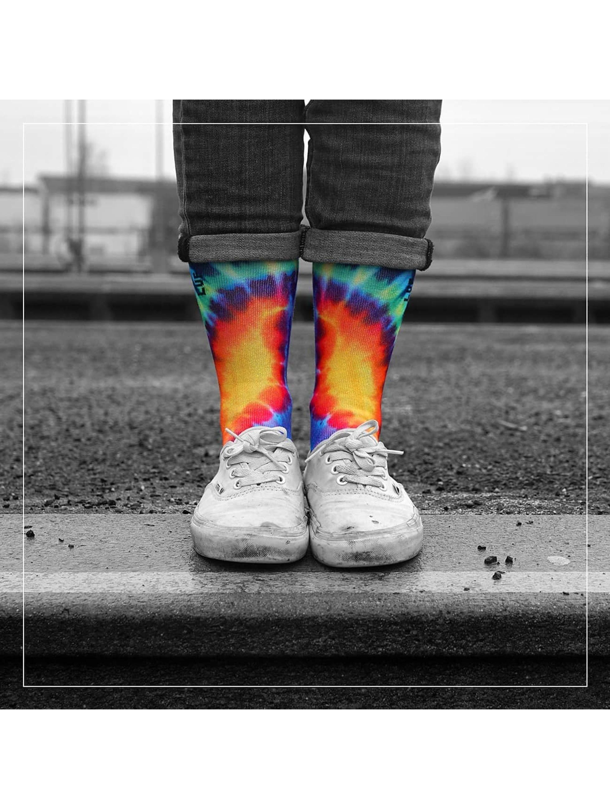 LUF SOX Chaussettes Peace multicolore