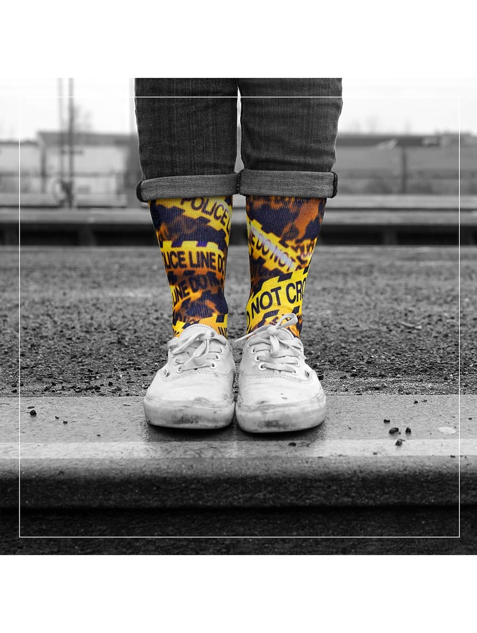 LUF SOX Chaussettes Police Line multicolore