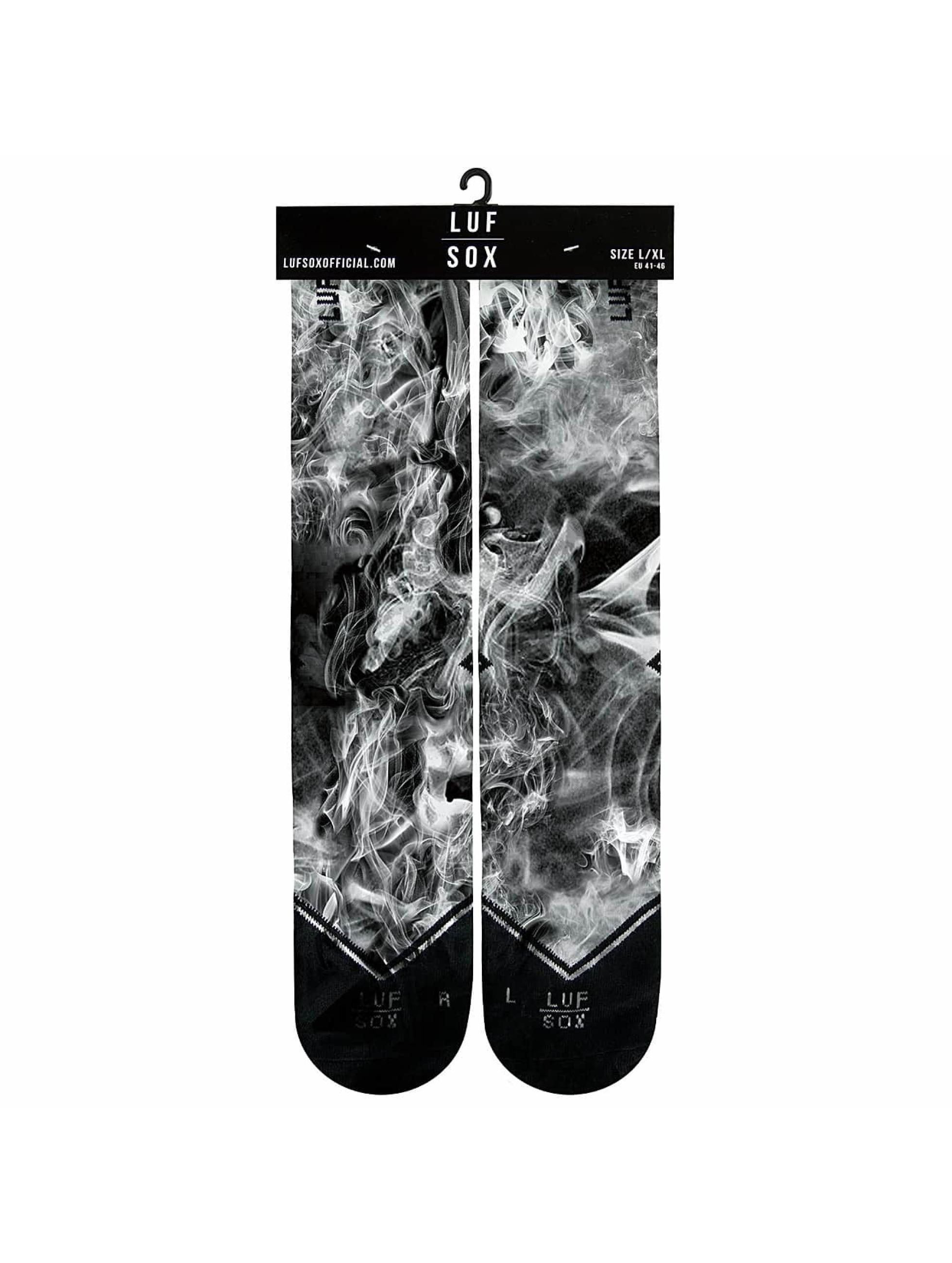 LUF SOX Chaussettes Black Dusk noir