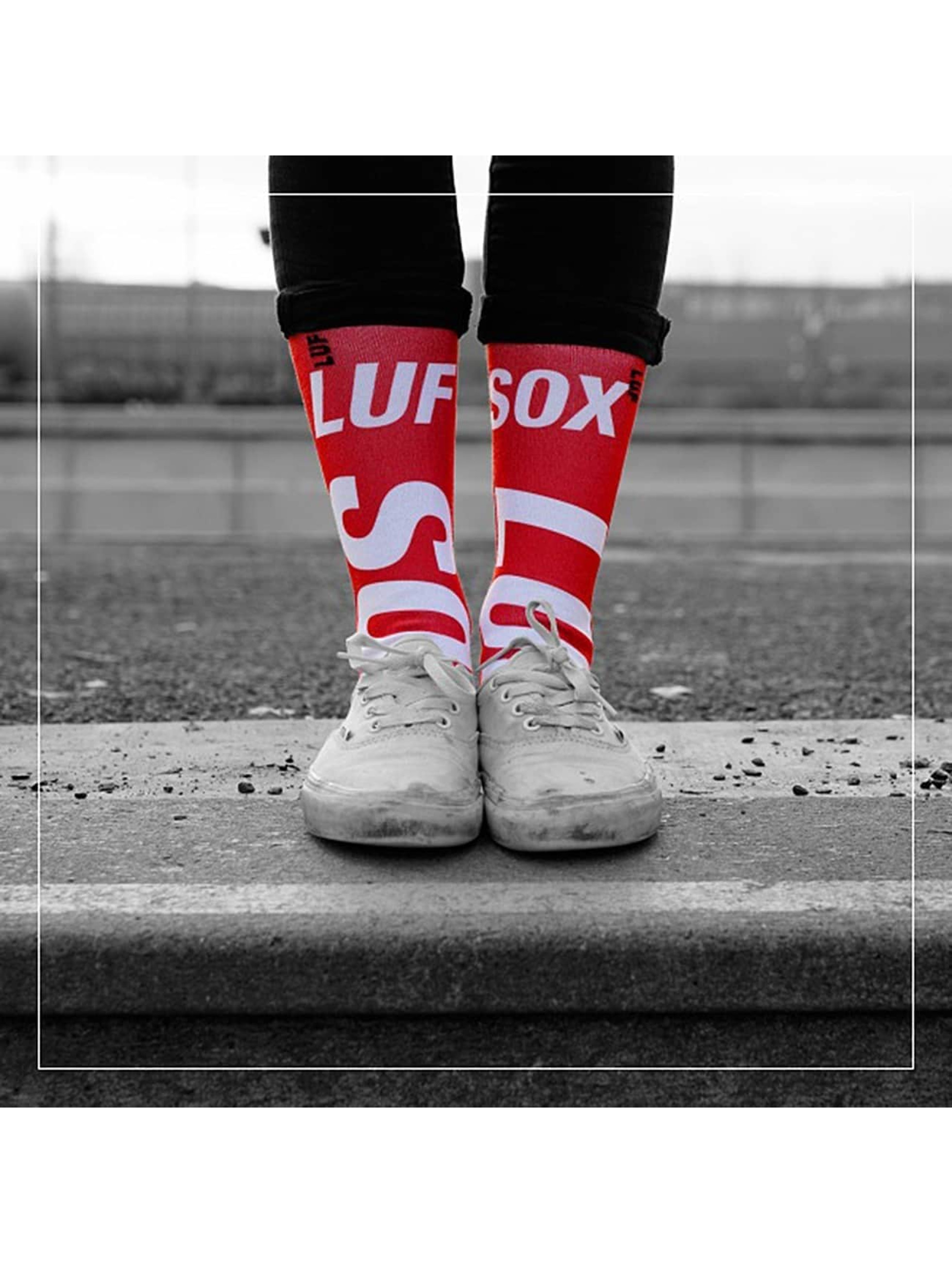 LUF SOX Chaussettes Official rouge