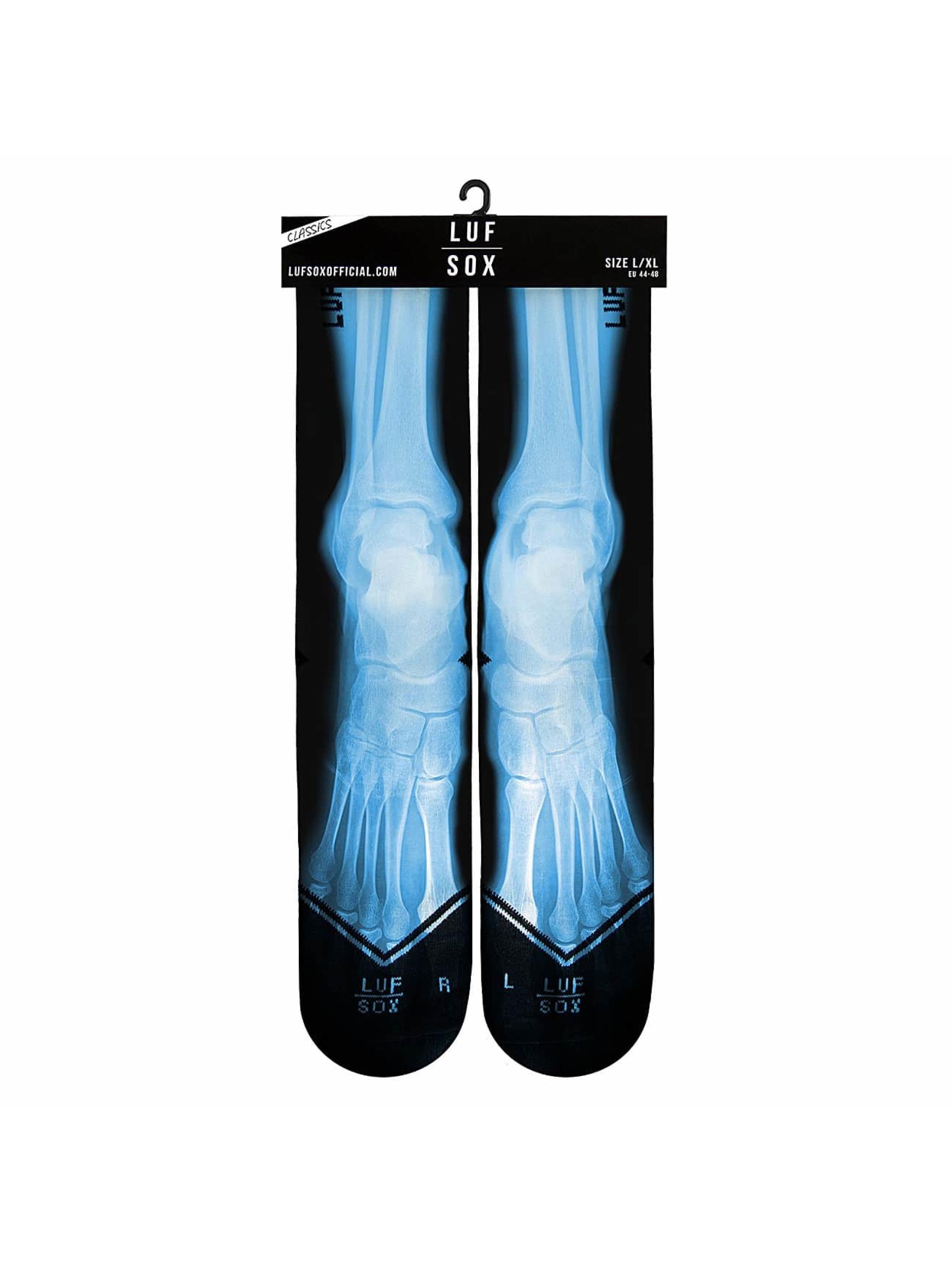 LUF SOX Sokken X-Ray zwart