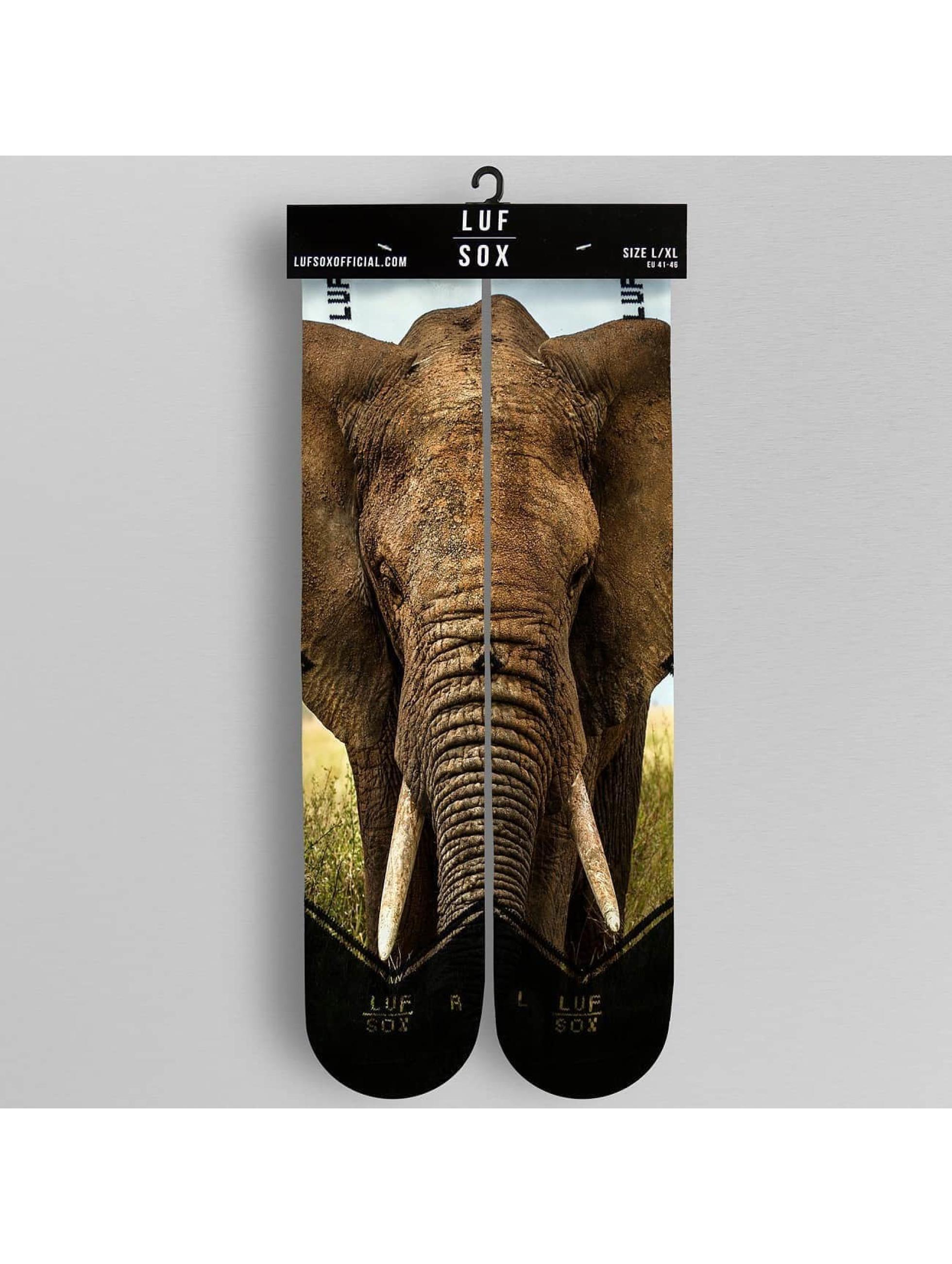 LUF SOX Strømper Elephant mangefarvet