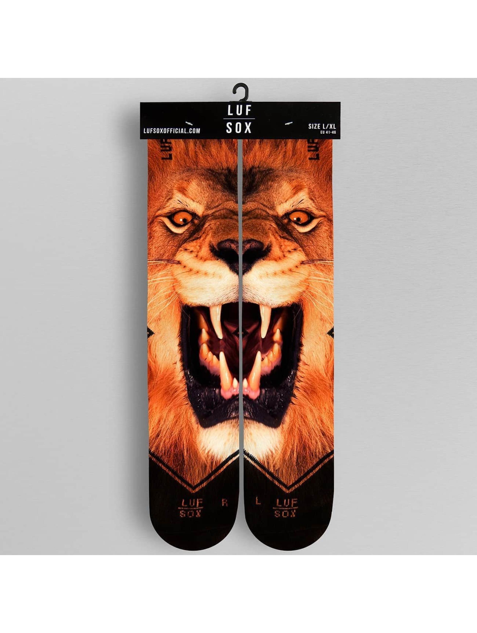 LUF SOX Strømper Lion mangefarvet