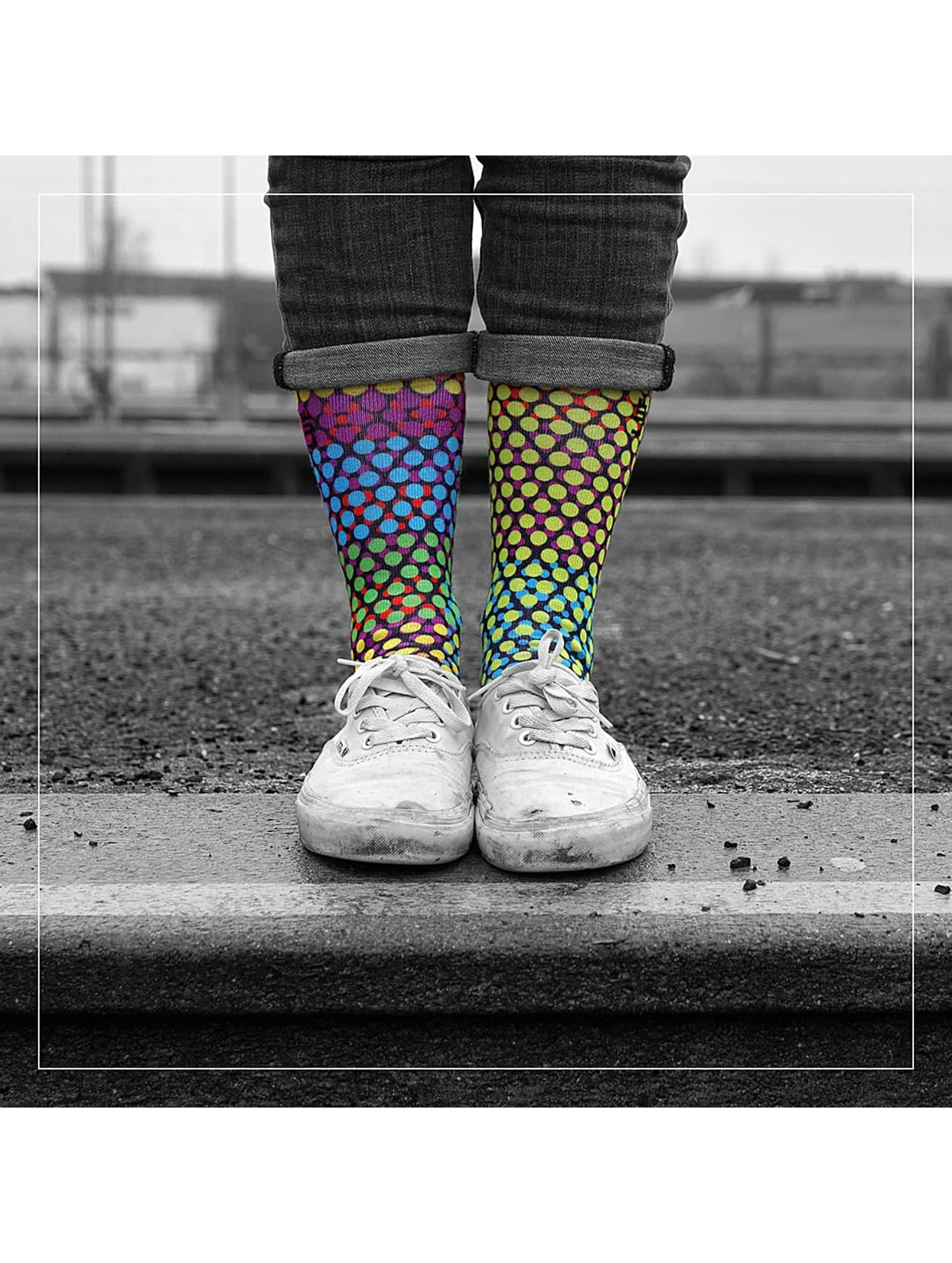 LUF SOX Strømper Glow Dots mangefarvet