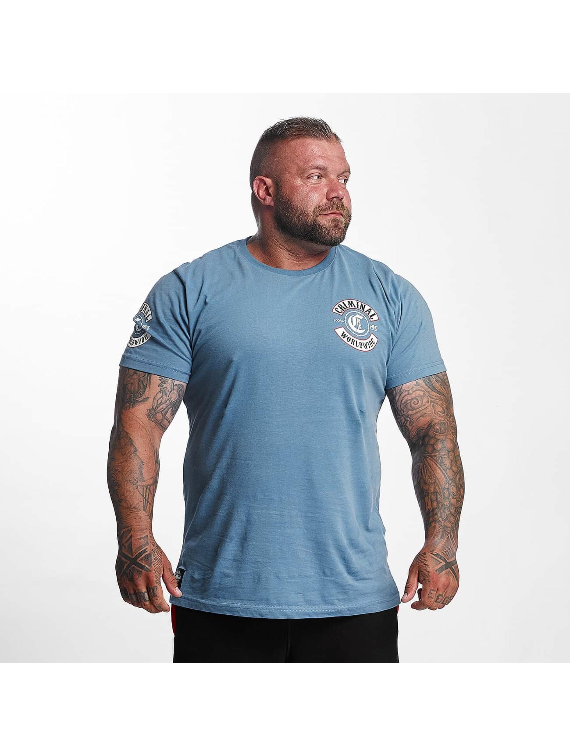 Mafia & Crime Camiseta Criminal Worldwide azul