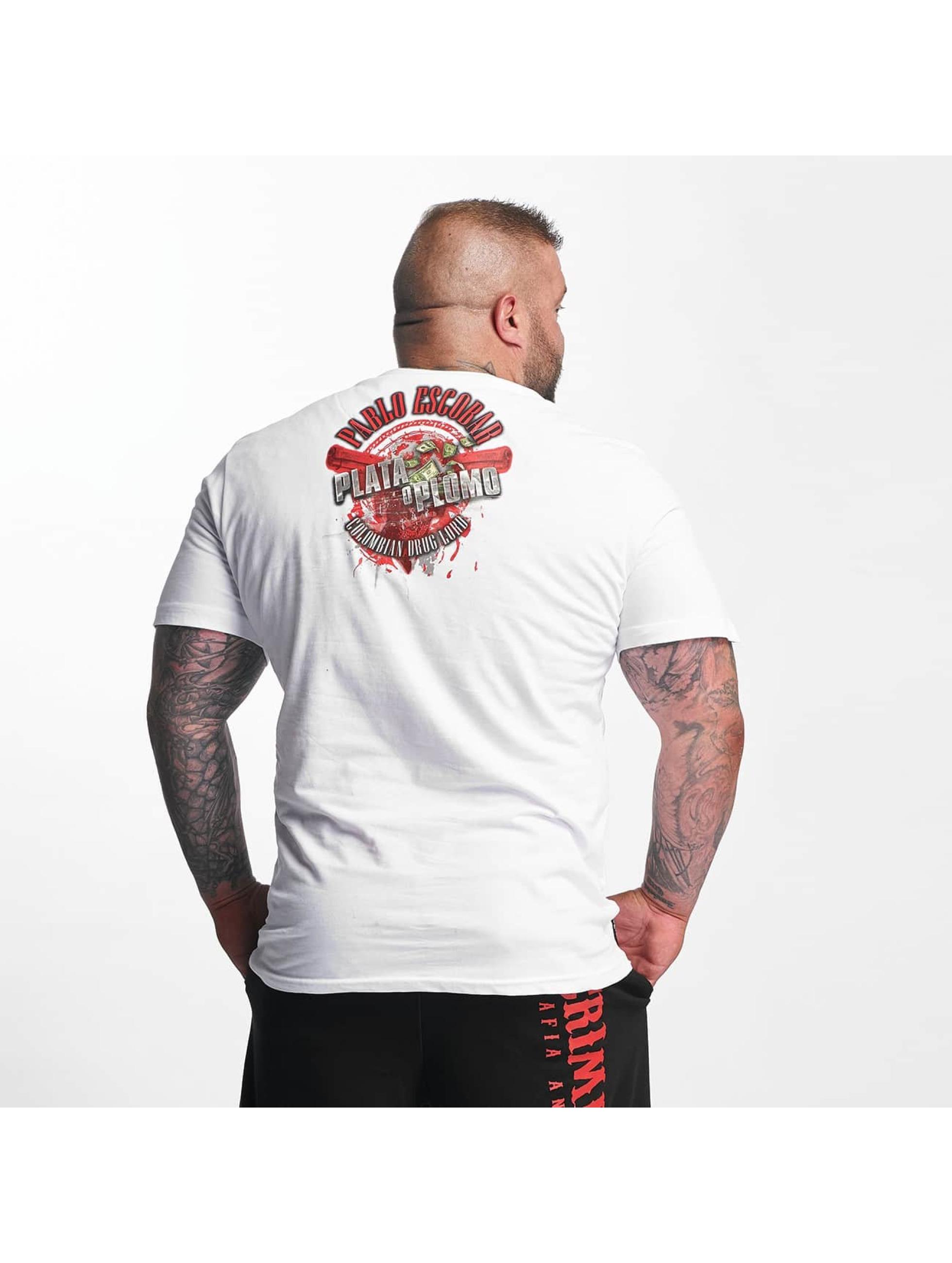 Mafia & Crime Camiseta Plata o Plomo blanco