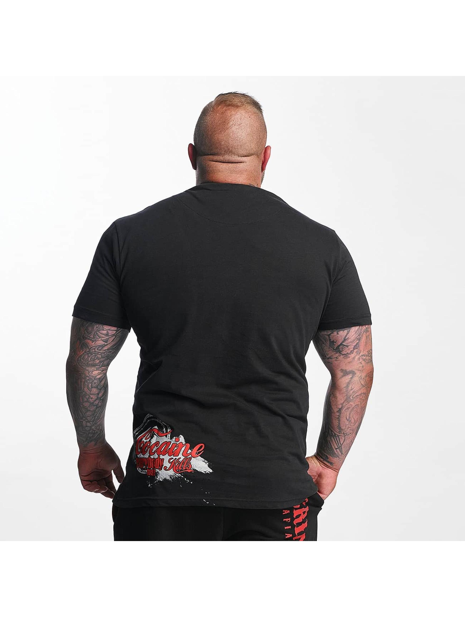 Mafia & Crime Camiseta Cocaine Everybody Nose negro
