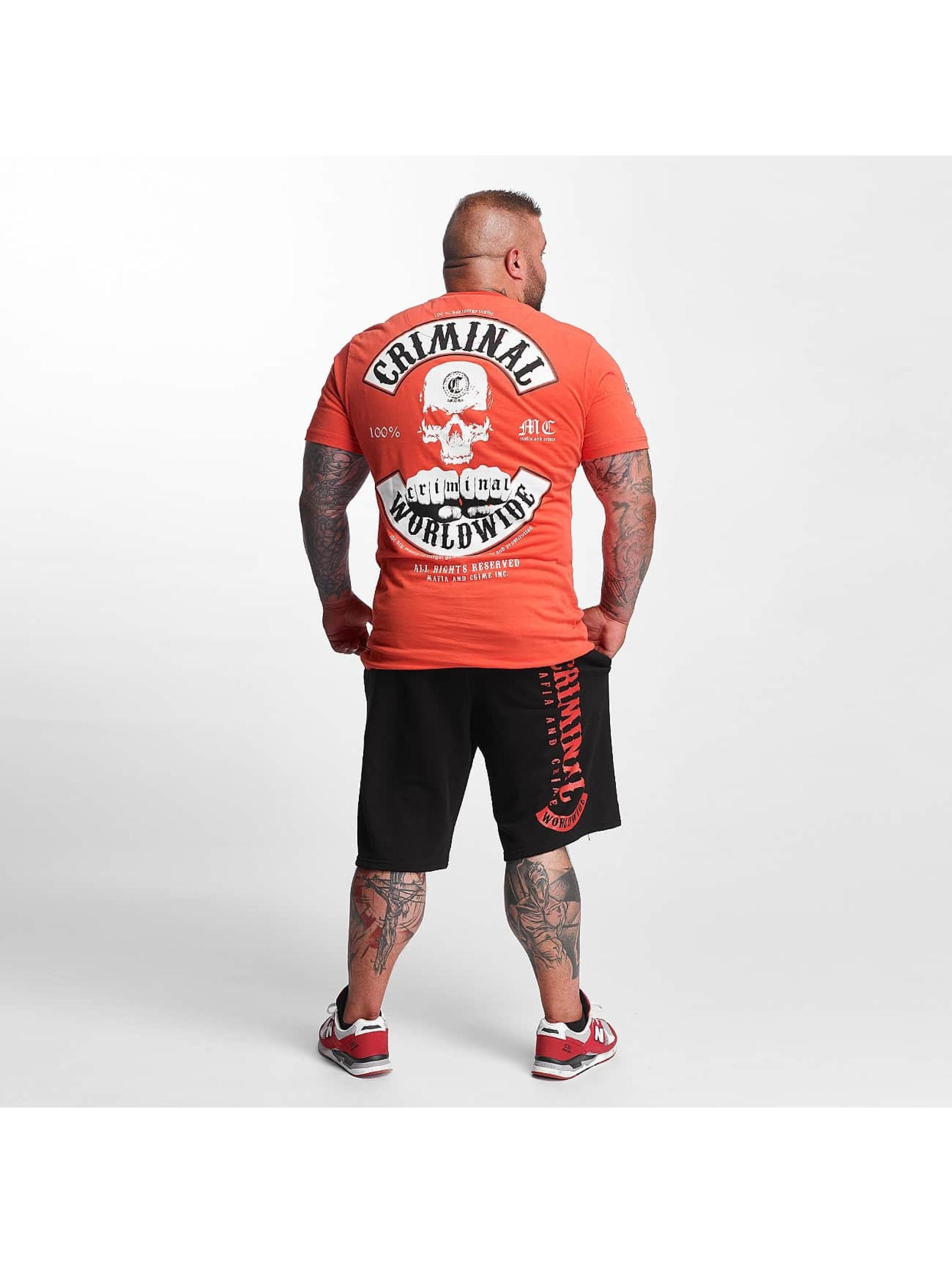 Mafia & Crime Camiseta Criminal Worldwide rojo