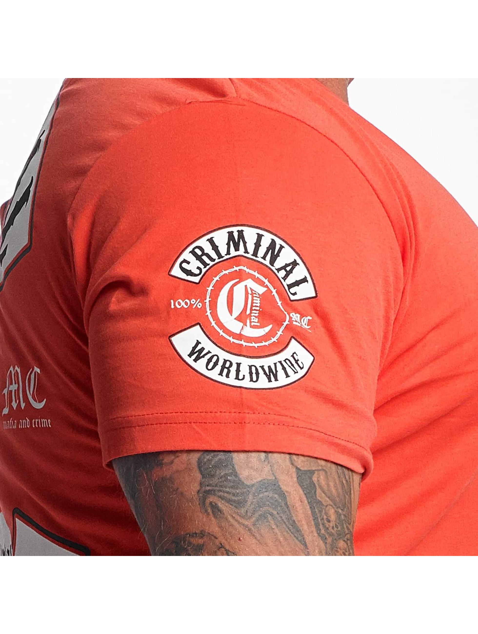 Mafia & Crime T-paidat Criminal Worldwide punainen