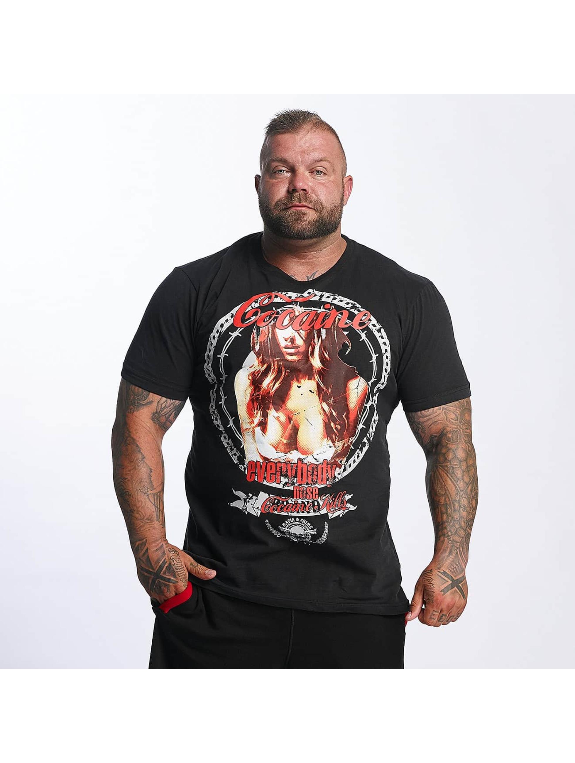 Mafia & Crime T-Shirt Cocaine Everybody Nose black