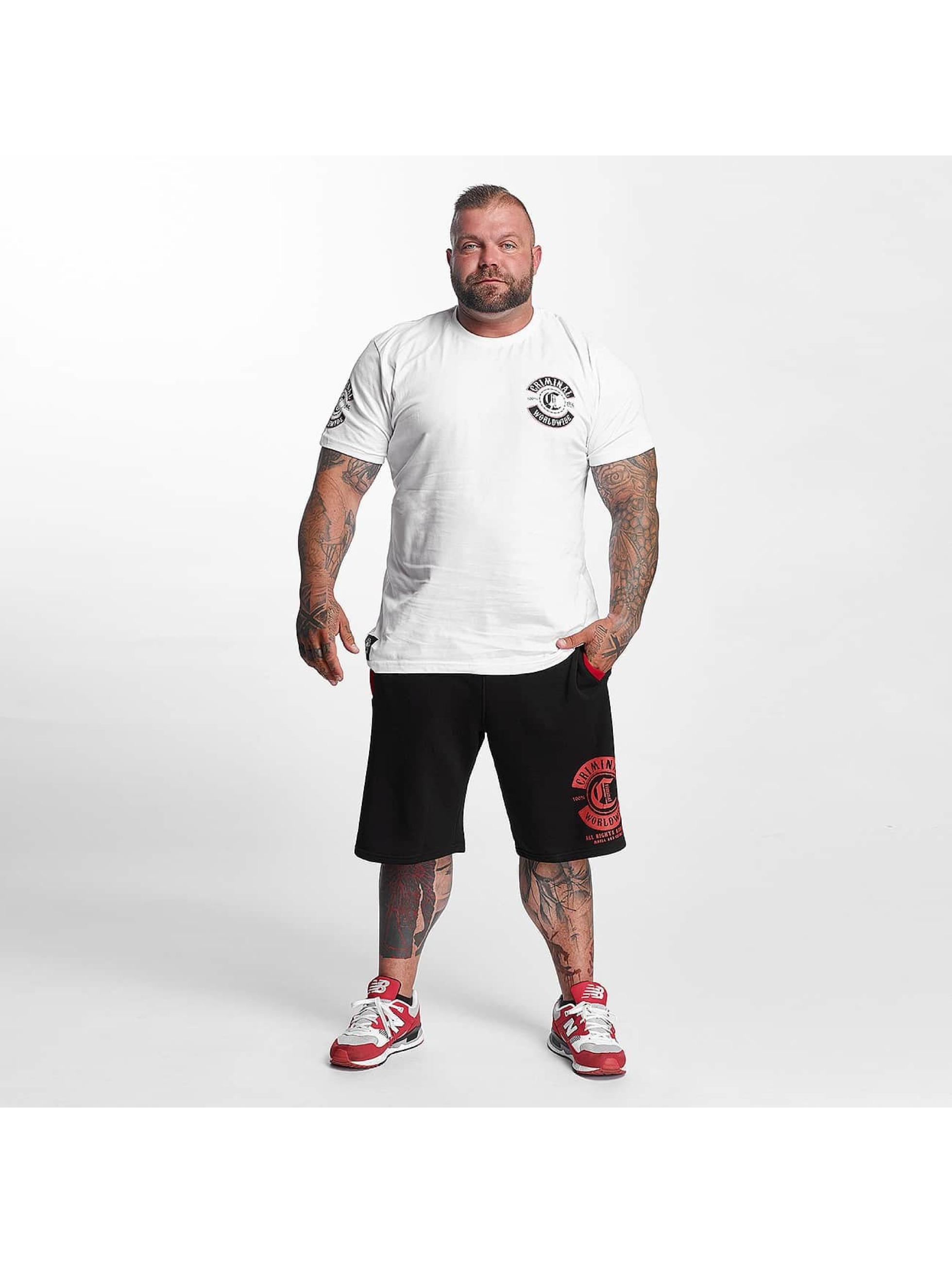 Mafia & Crime T-Shirt Criminal Worldwide blanc