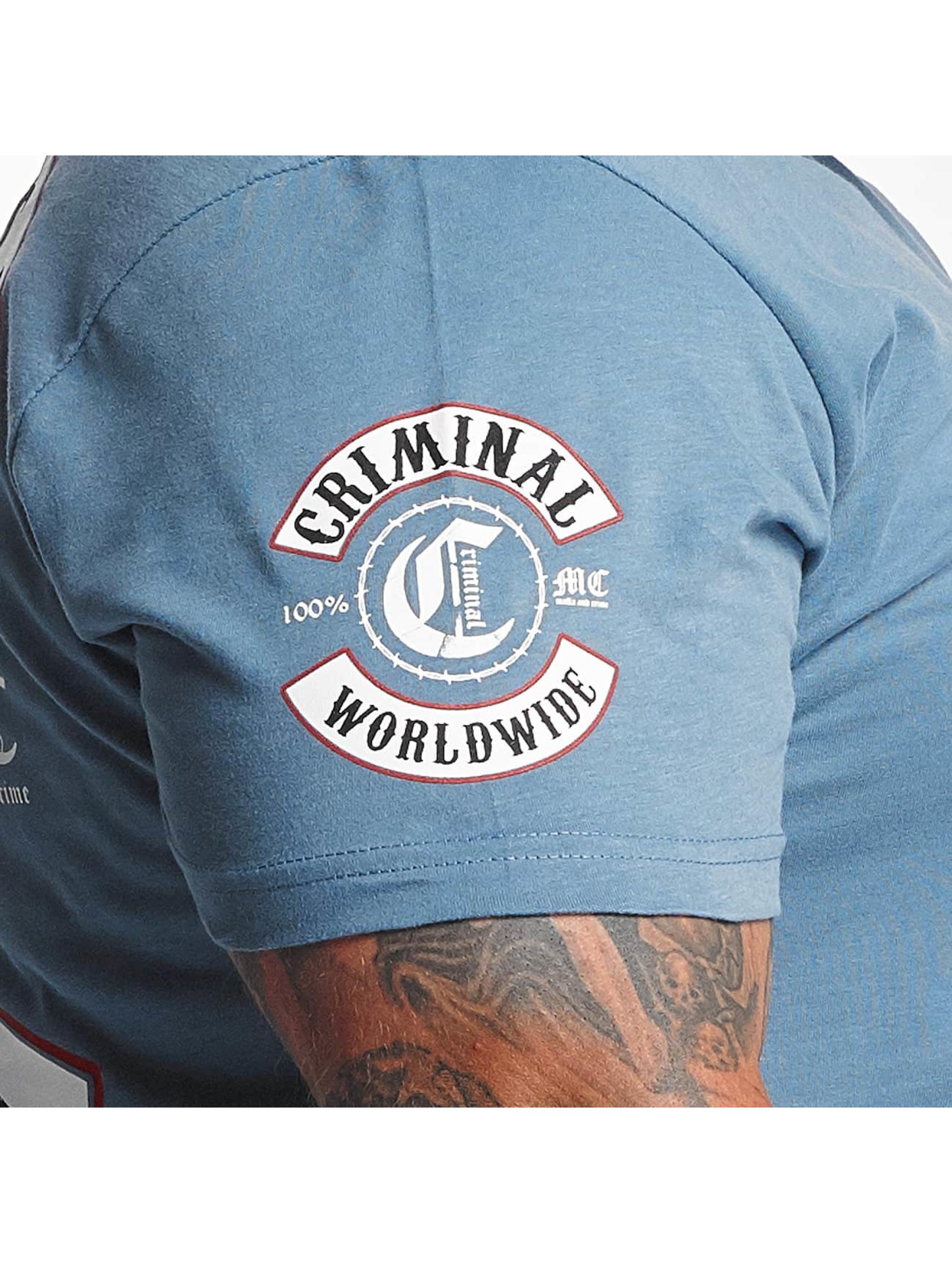 Mafia & Crime T-Shirt Criminal Worldwide blau
