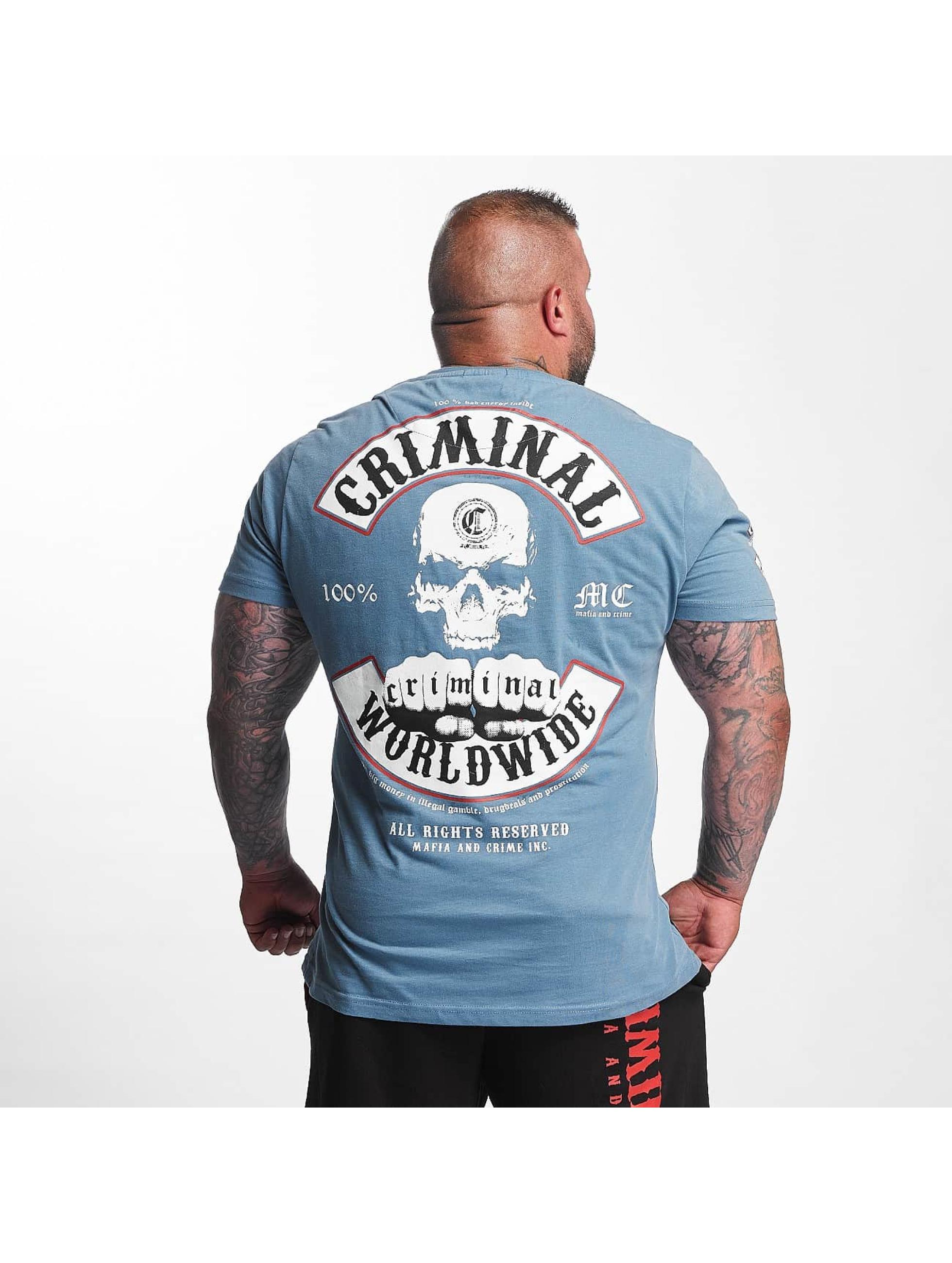 Mafia & Crime T-Shirt Criminal Worldwide bleu