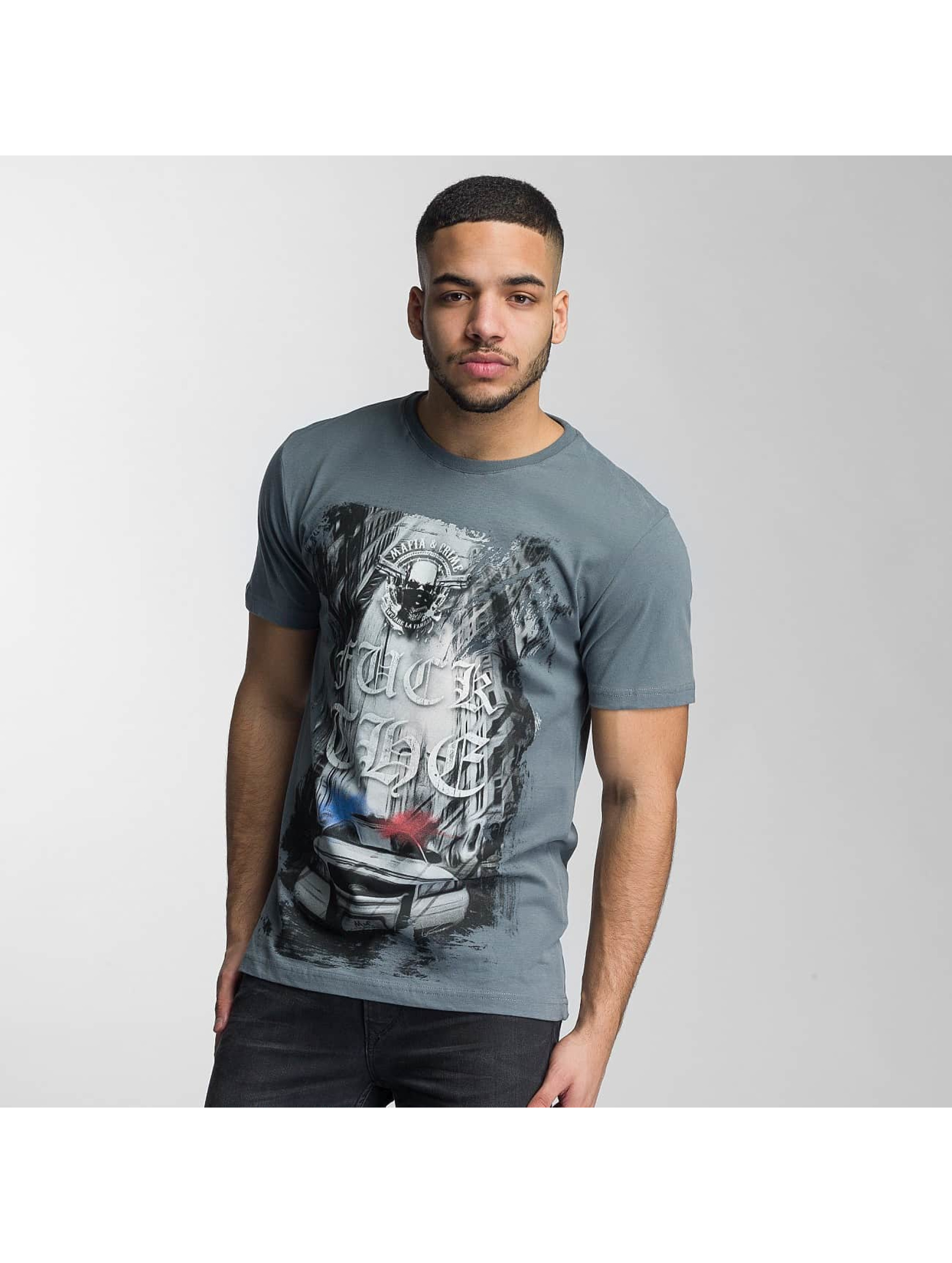 Mafia & Crime T-Shirt Fuck The... grey
