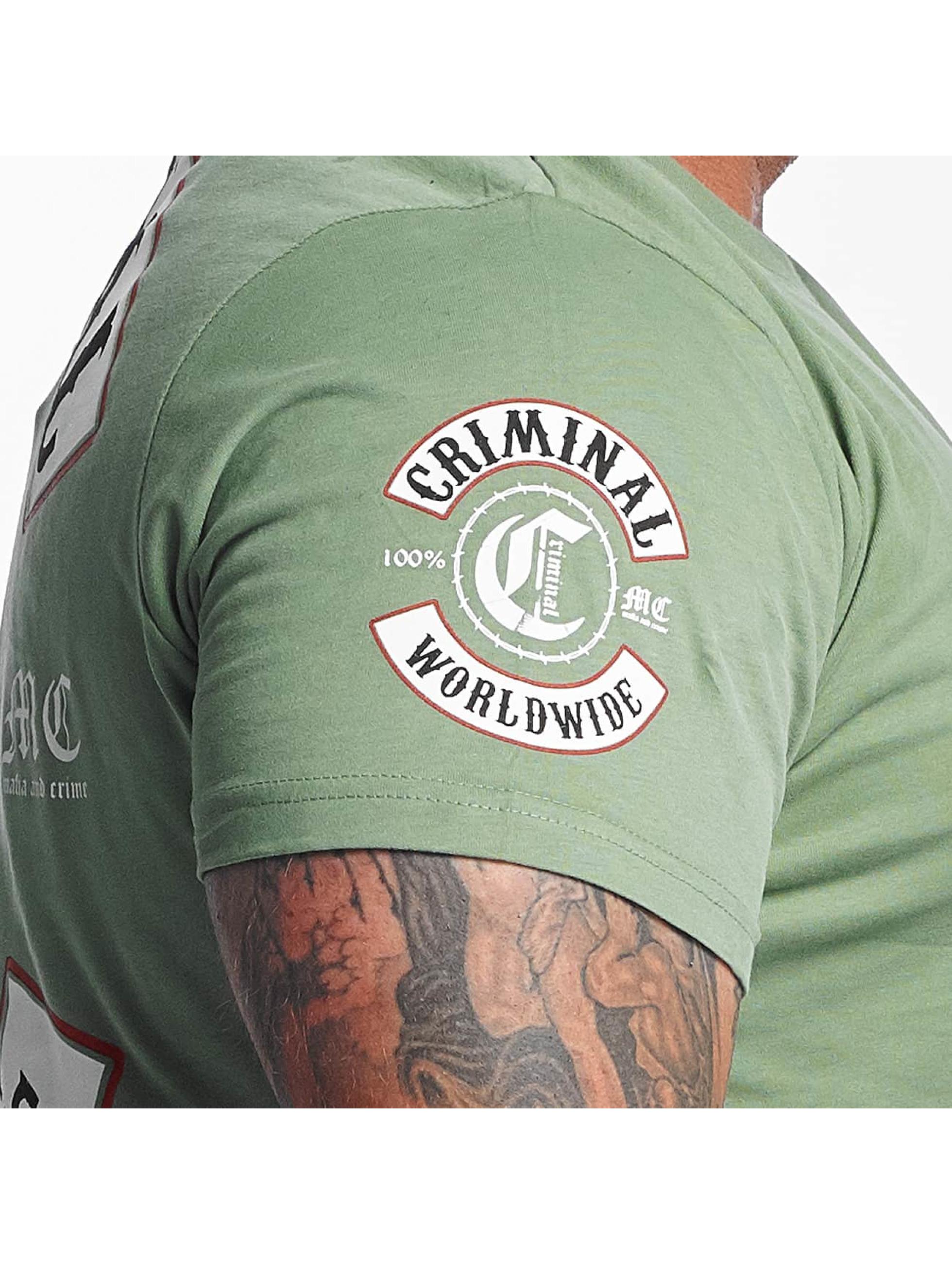 Mafia & Crime t-shirt Criminal Worldwide olijfgroen
