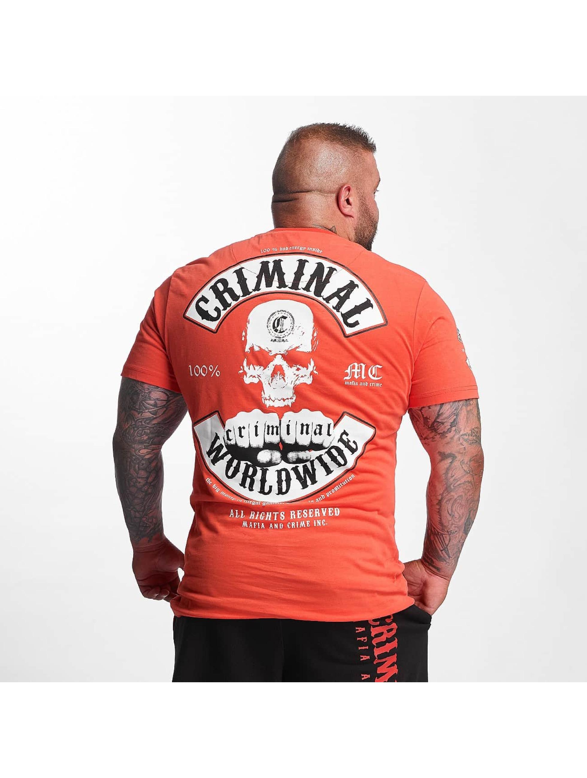 Mafia & Crime T-Shirt Criminal Worldwide rouge