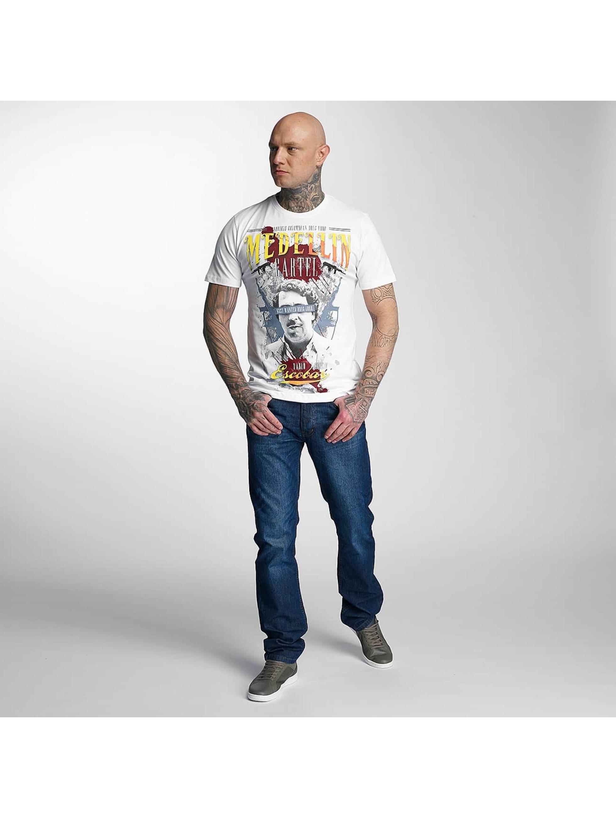 Mafia & Crime T-Shirt Medellin Escobar weiß