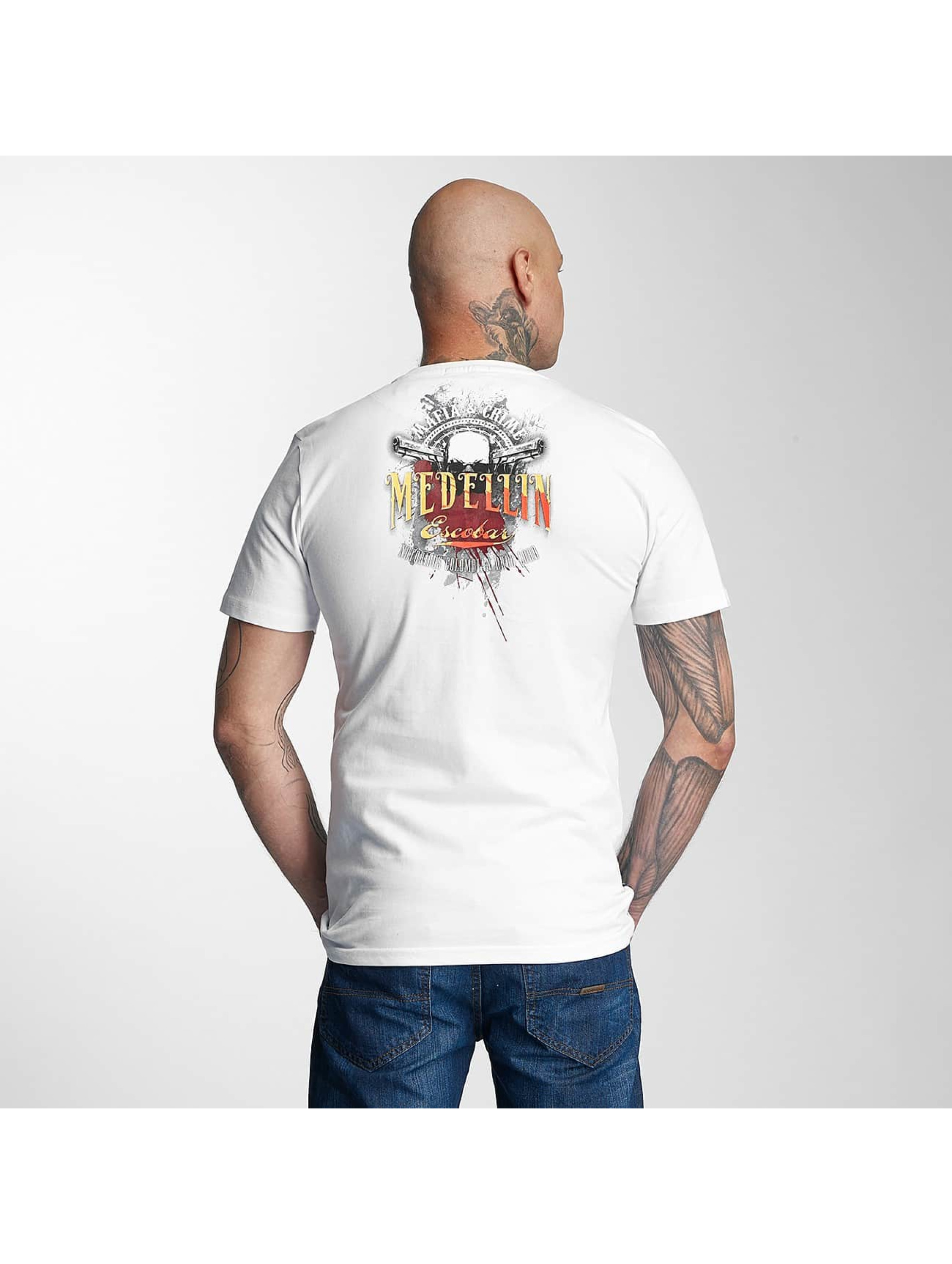 Mafia & Crime T-Shirt Medellin Escobar white
