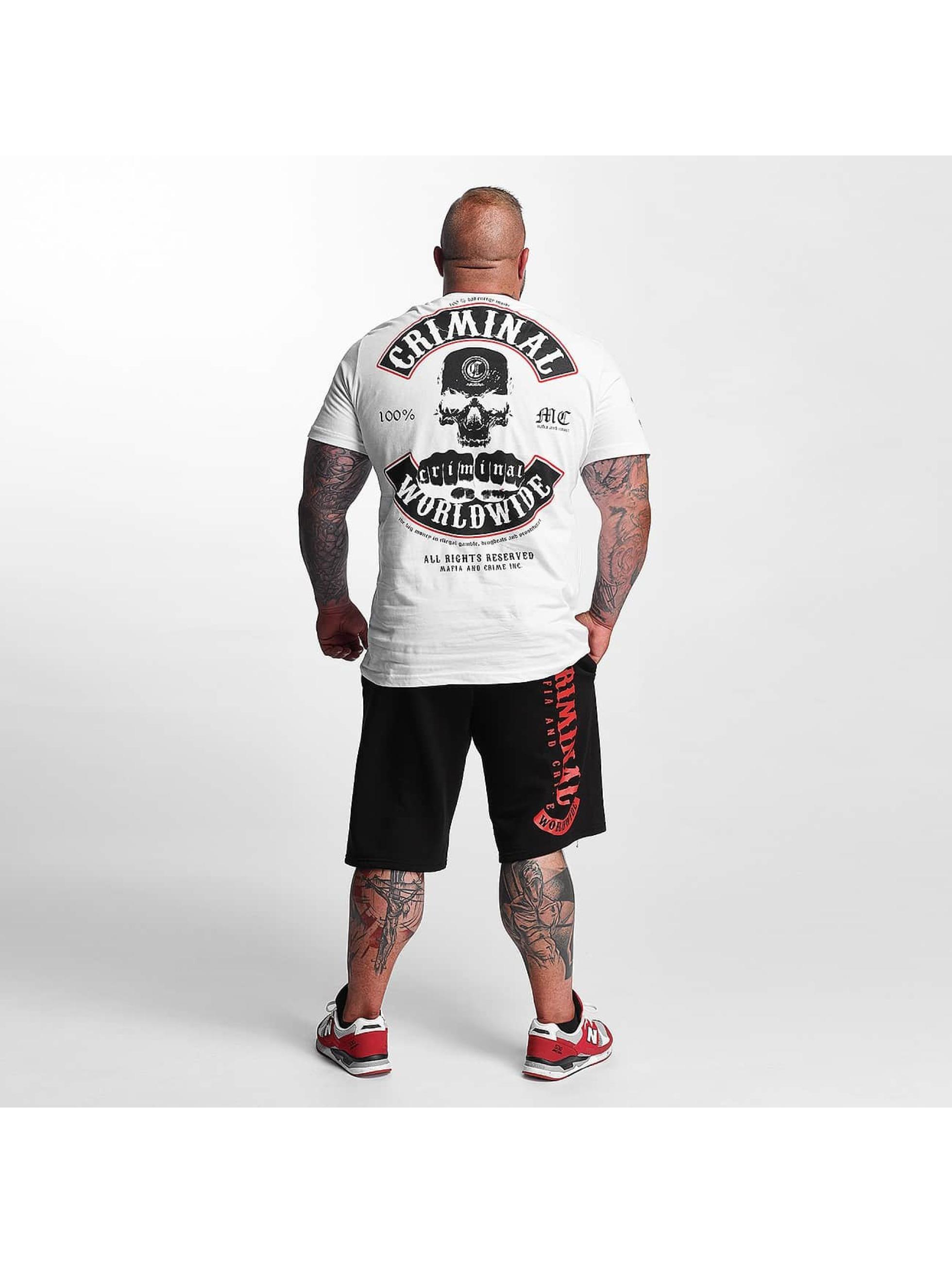 Mafia & Crime T-Shirt Criminal Worldwide white