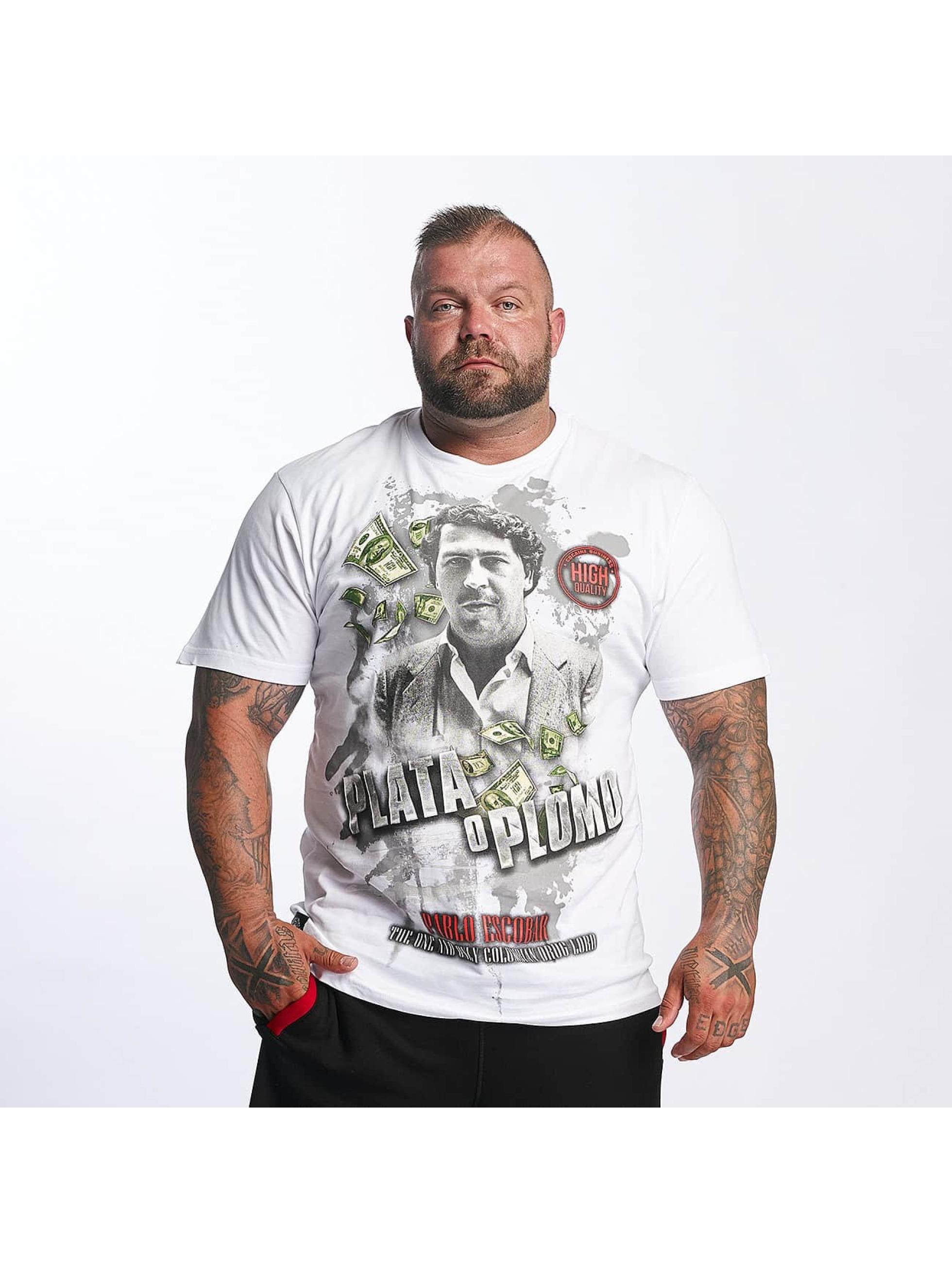Mafia & Crime t-shirt Plata o Plomo wit