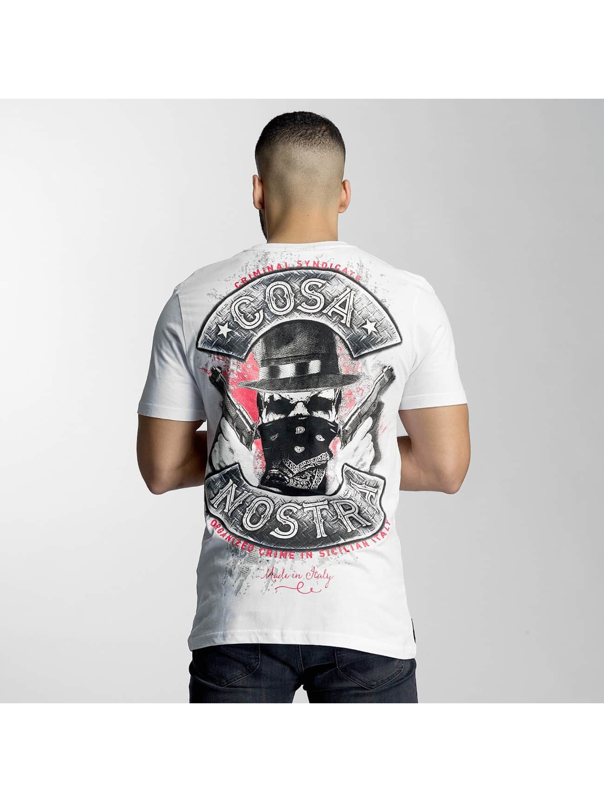 Mafia & Crime T-Shirty Cosa Nostra bialy