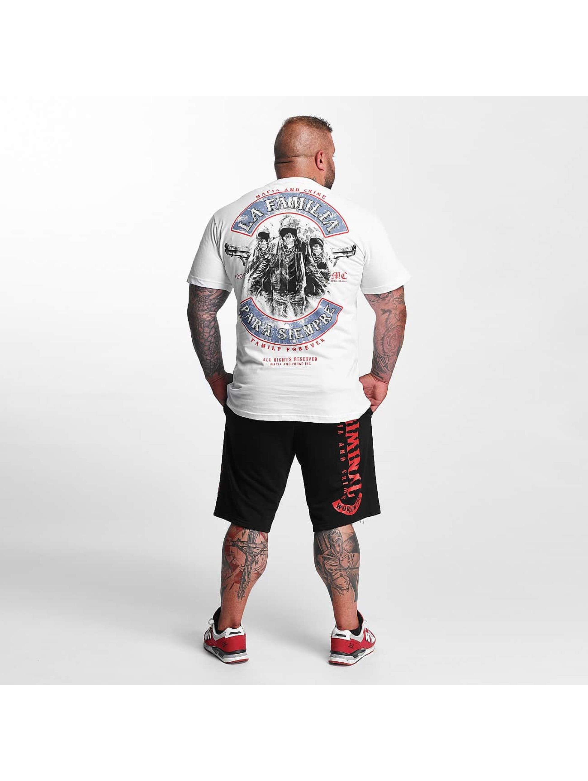 Mafia & Crime T-Shirty PARA SIEMPRE bialy