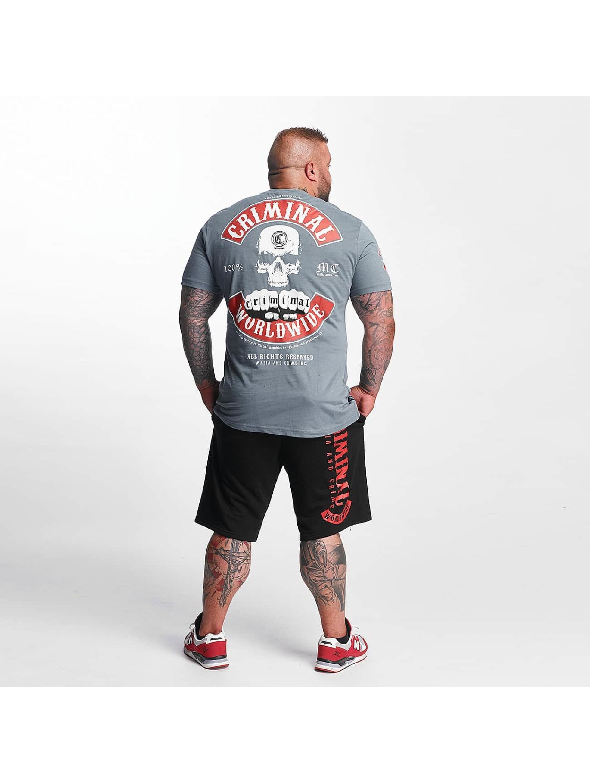 Mafia & Crime T-Shirty MC182 szary