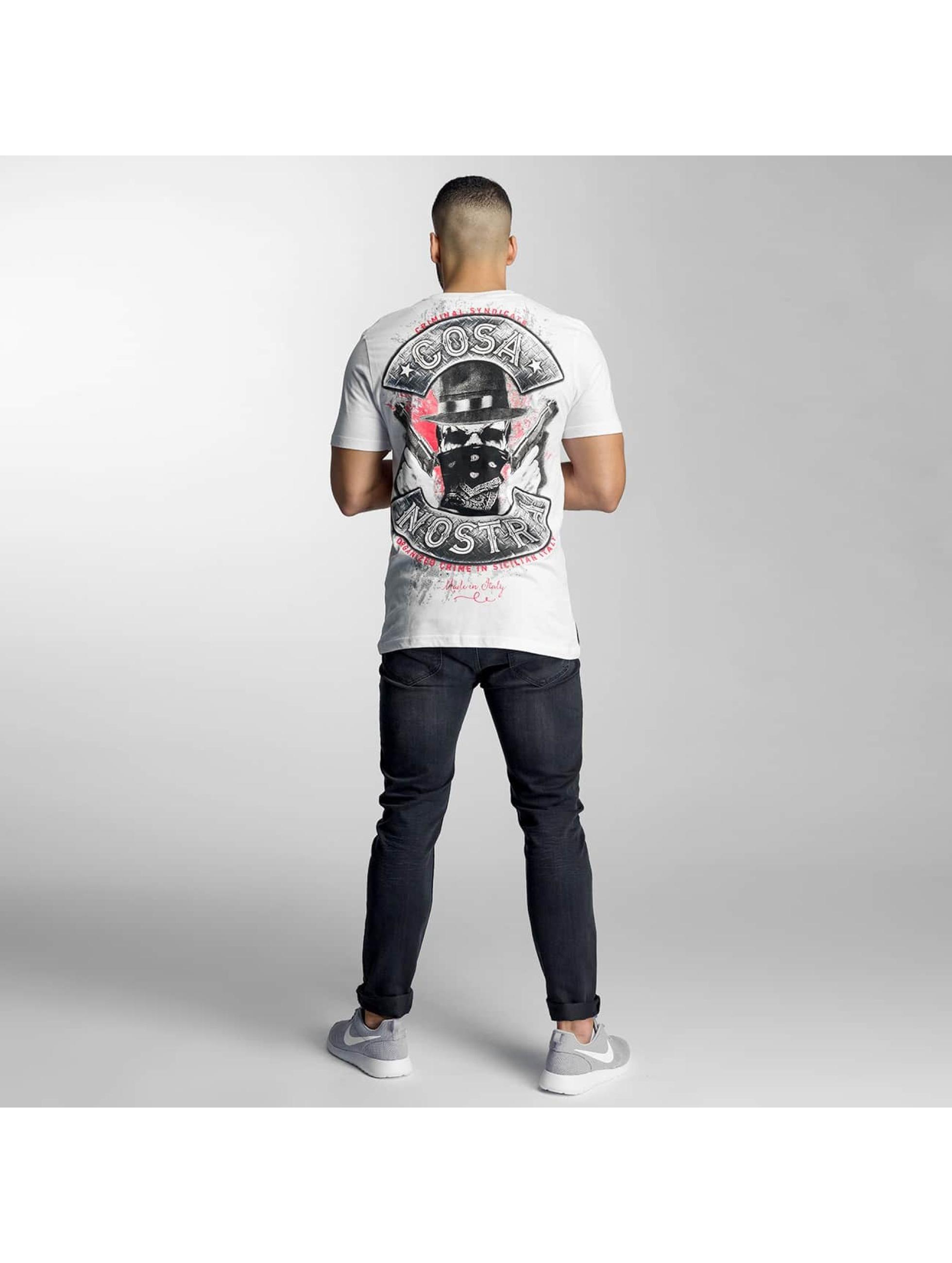 Mafia & Crime T-skjorter Cosa Nostra hvit