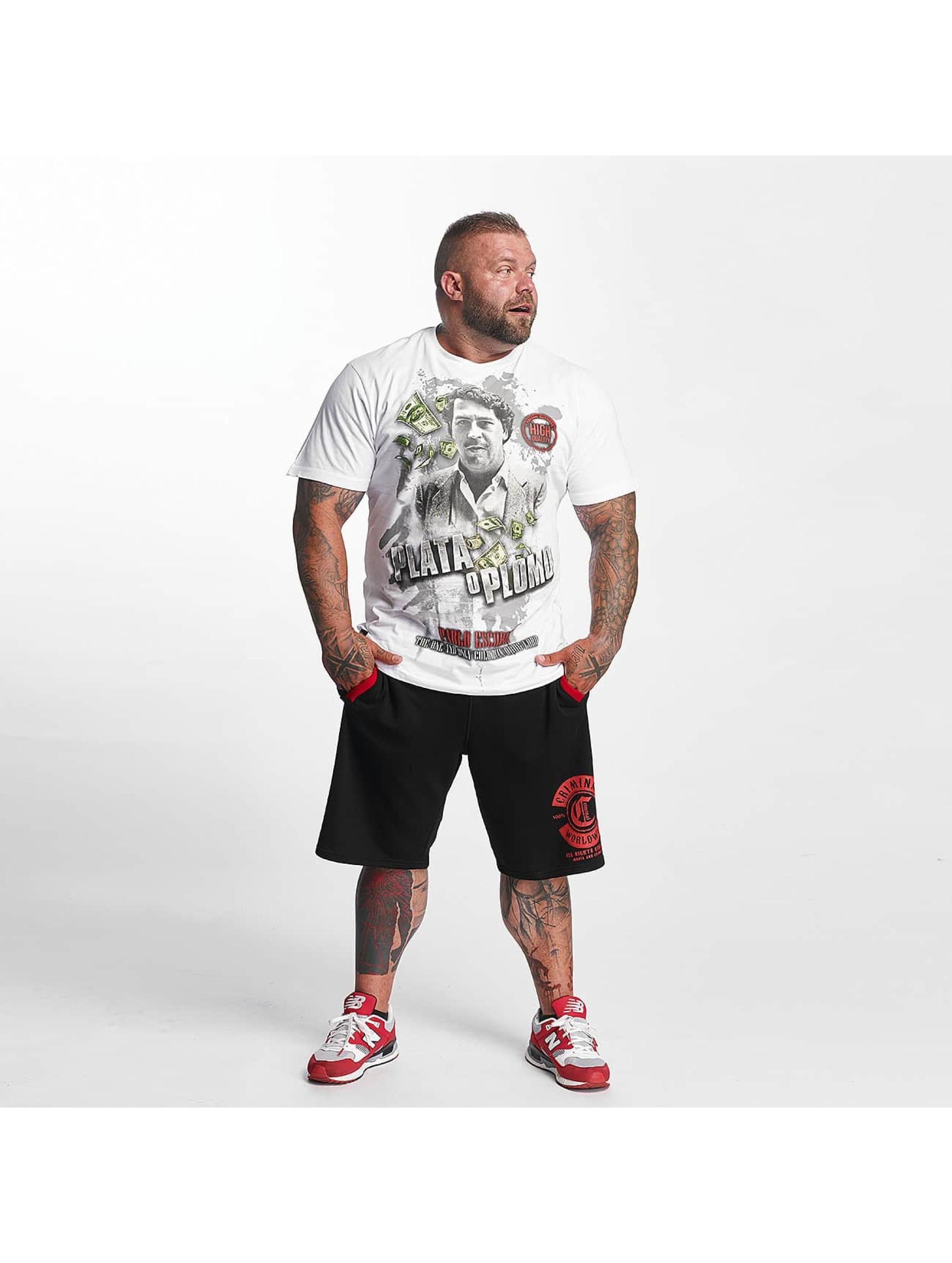 Mafia & Crime T-skjorter Plata o Plomo hvit