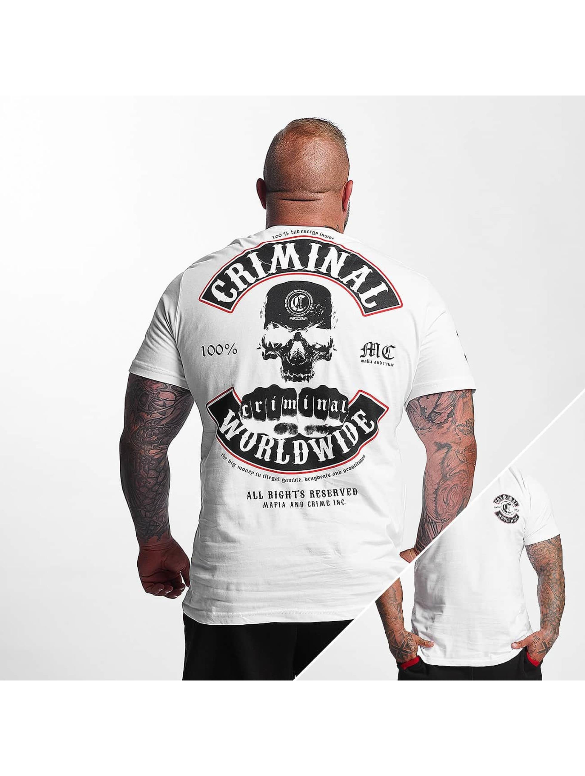 Mafia & Crime T-skjorter Criminal Worldwide hvit