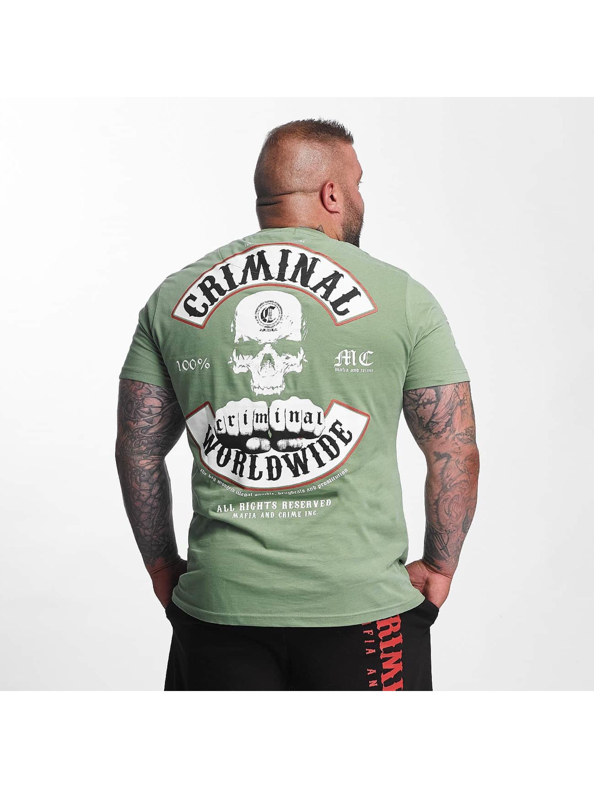 Mafia & Crime T-skjorter Criminal Worldwide oliven