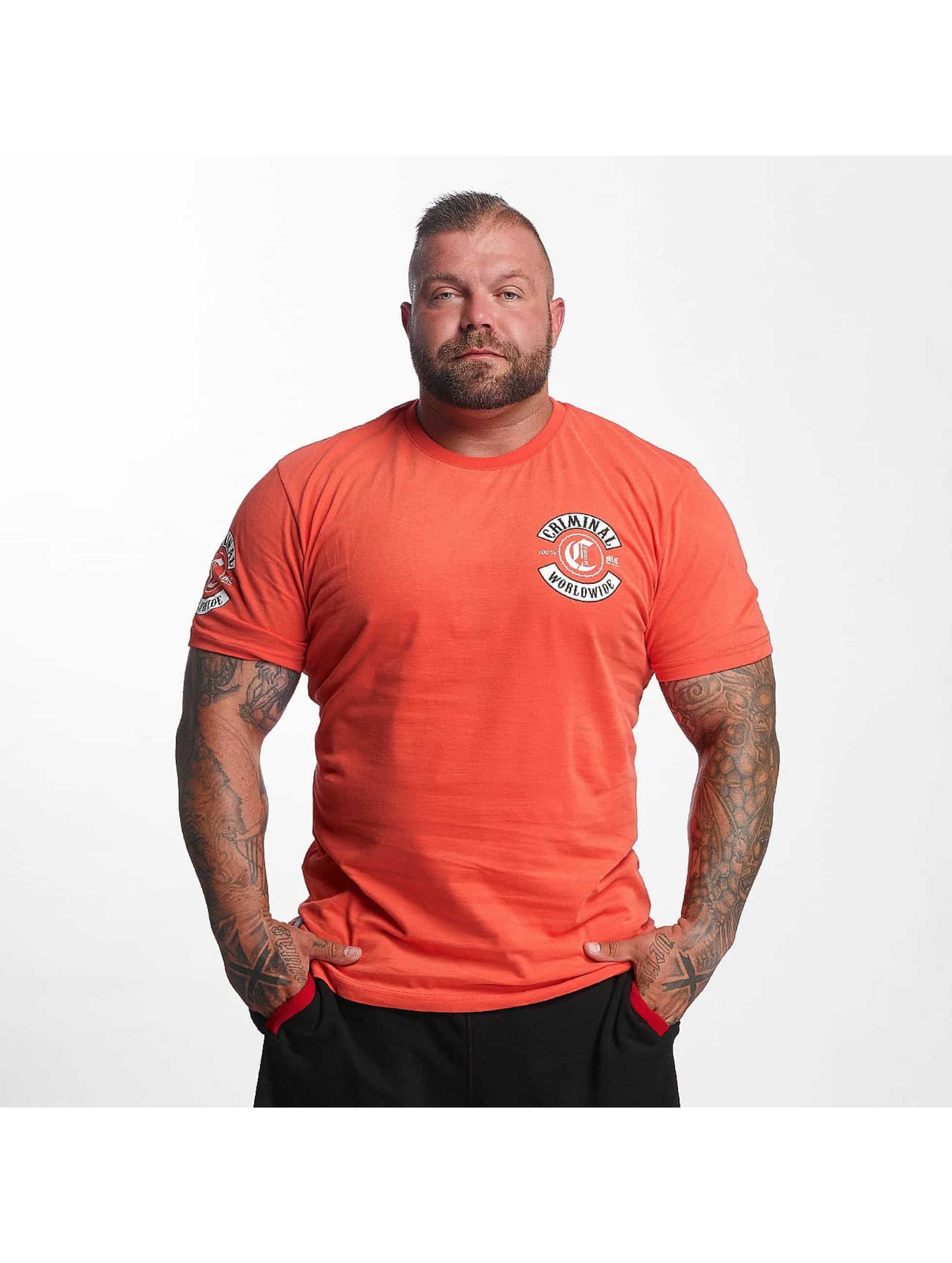 Mafia & Crime T-skjorter Criminal Worldwide red