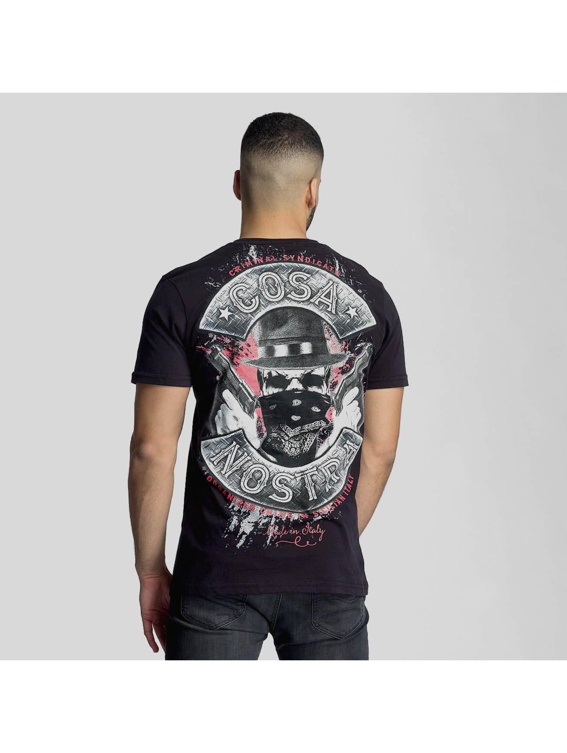 Mafia & Crime T-skjorter Cosa Nostra svart