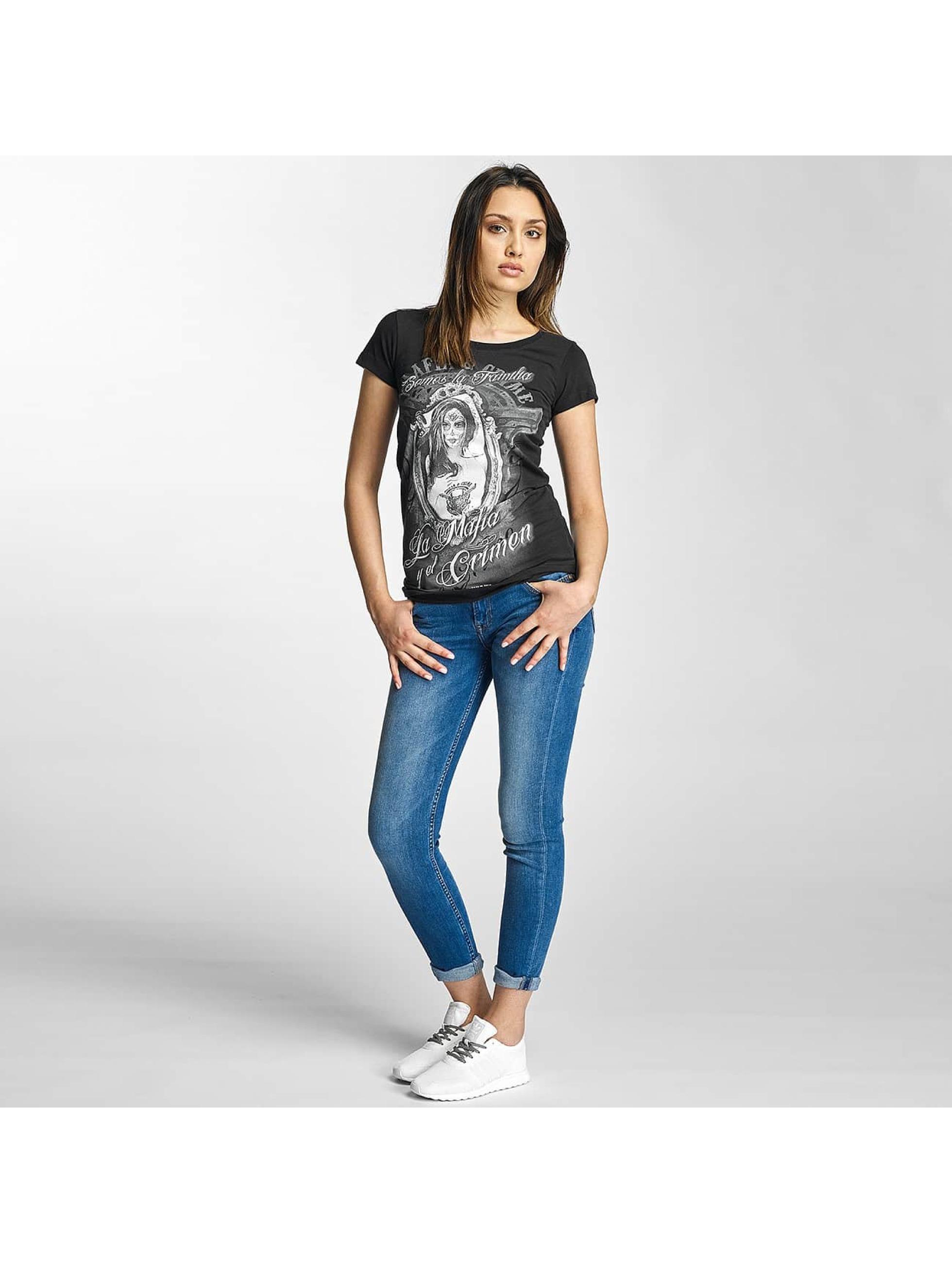 Mafia & Crime T-skjorter Somos La Familia Girls svart