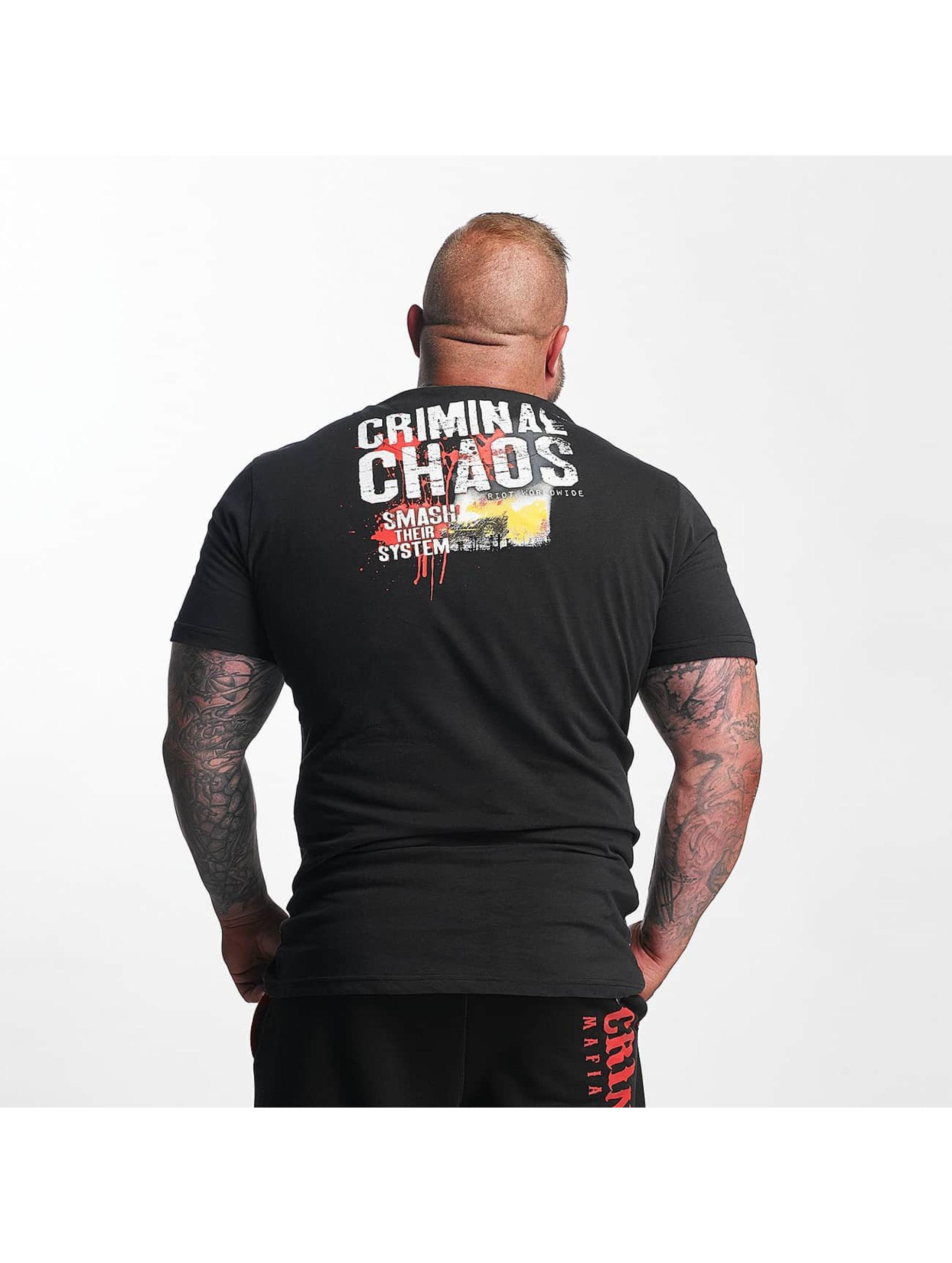 Mafia & Crime T-skjorter Criminal Chaos svart