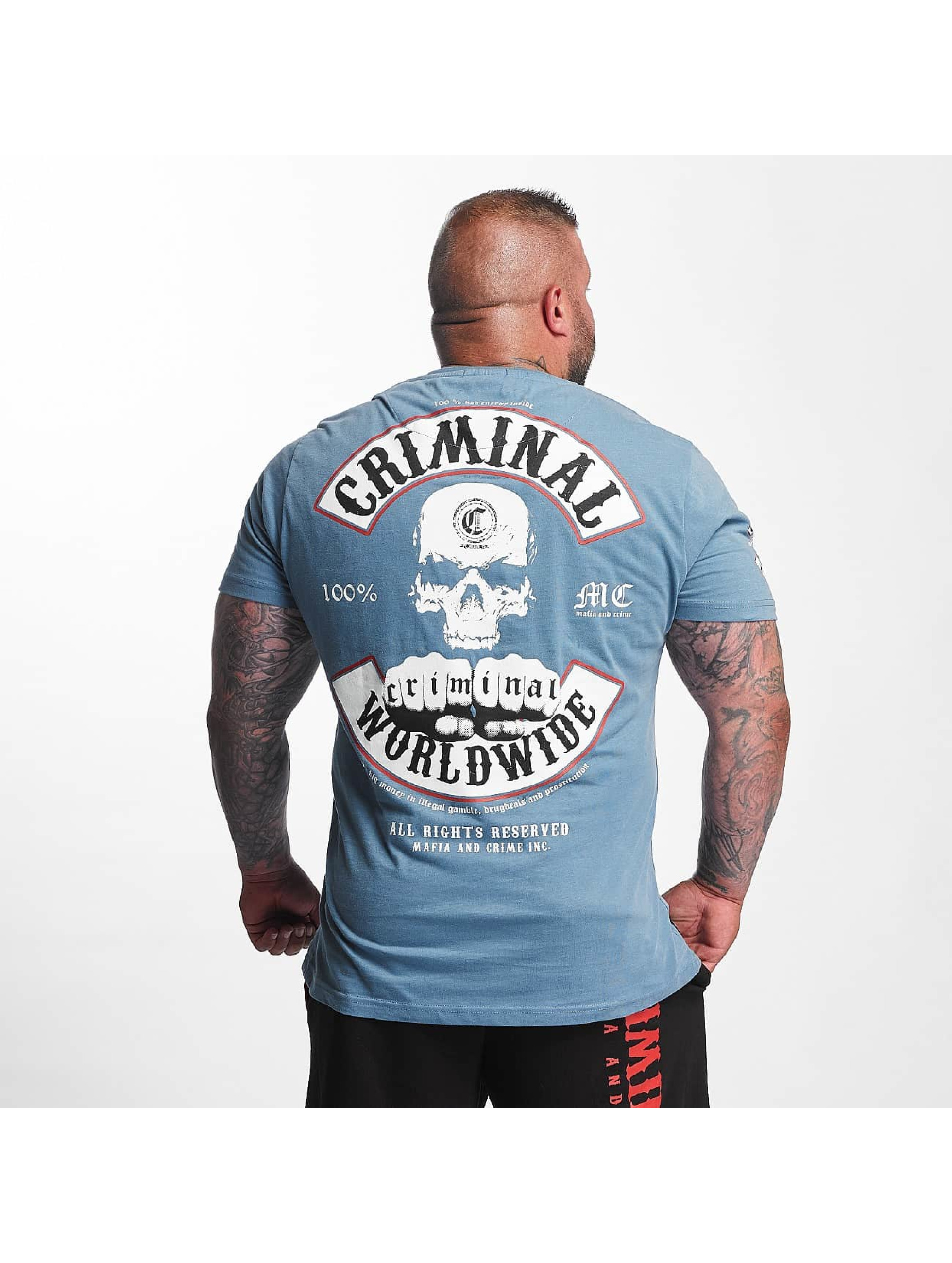 Mafia & Crime Tričká Criminal Worldwide modrá