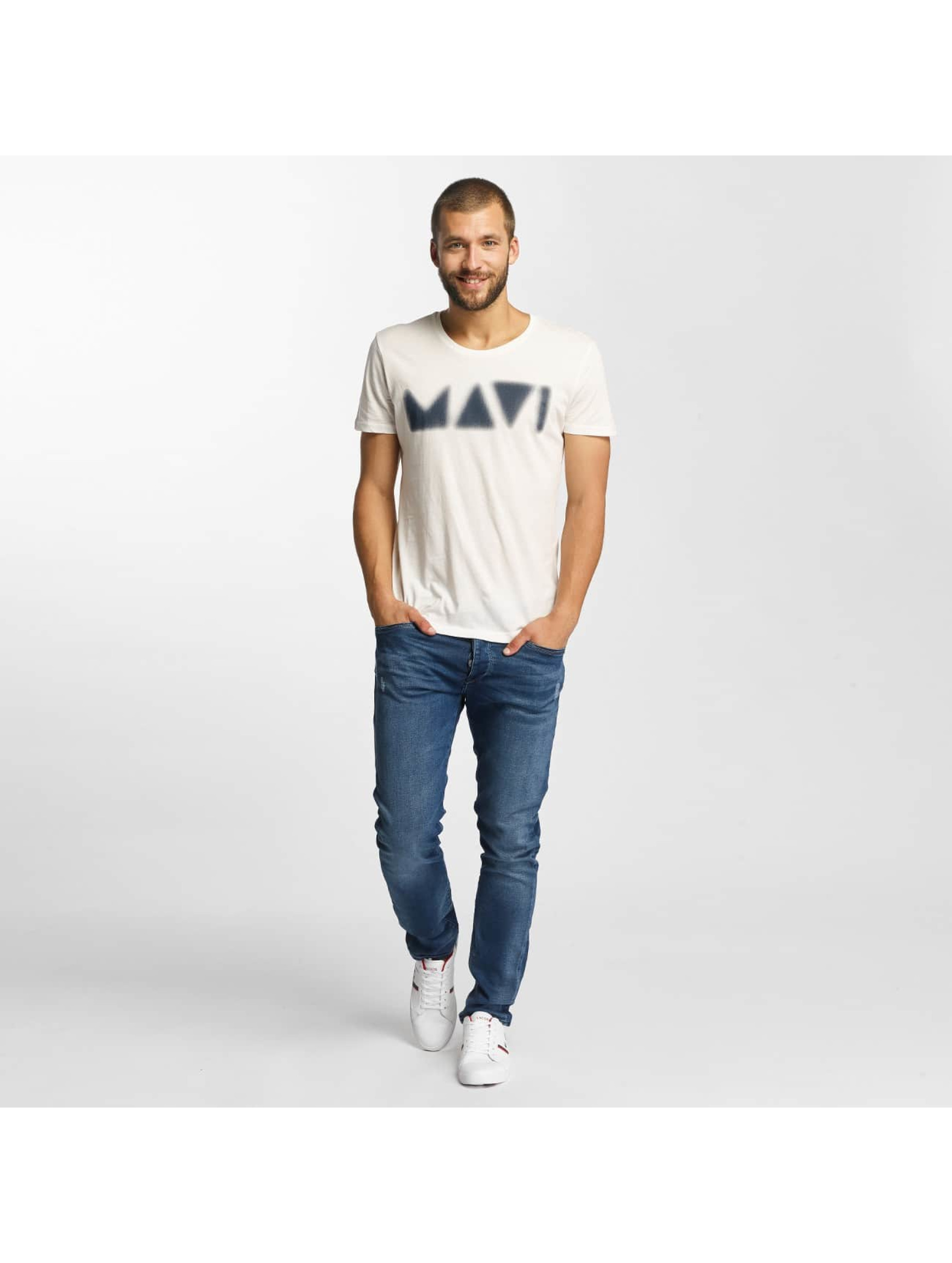 Mavi Jeans T-Shirty Printed bialy