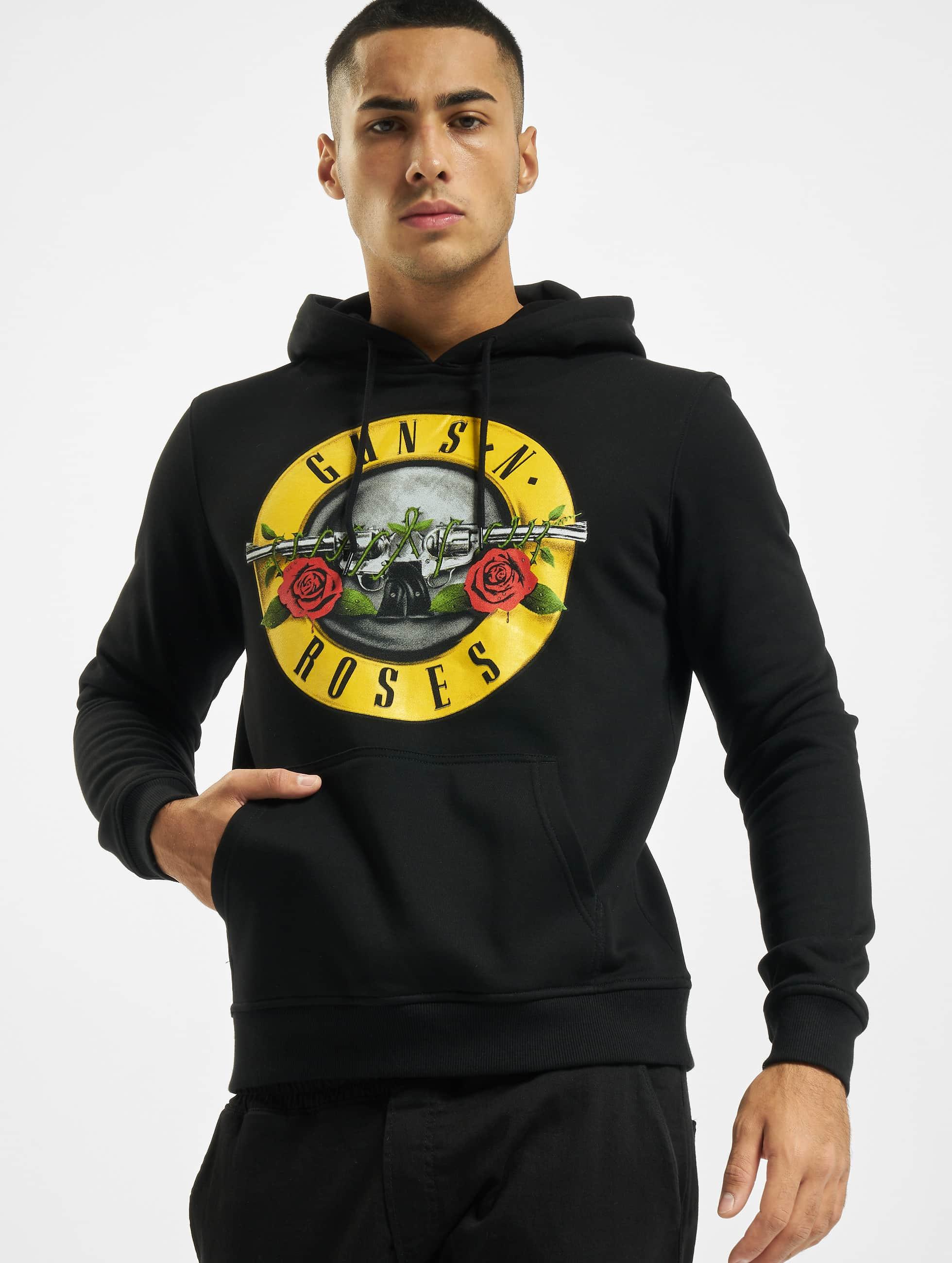 Merchcode Bluzy z kapturem Guns N' Roses czarny