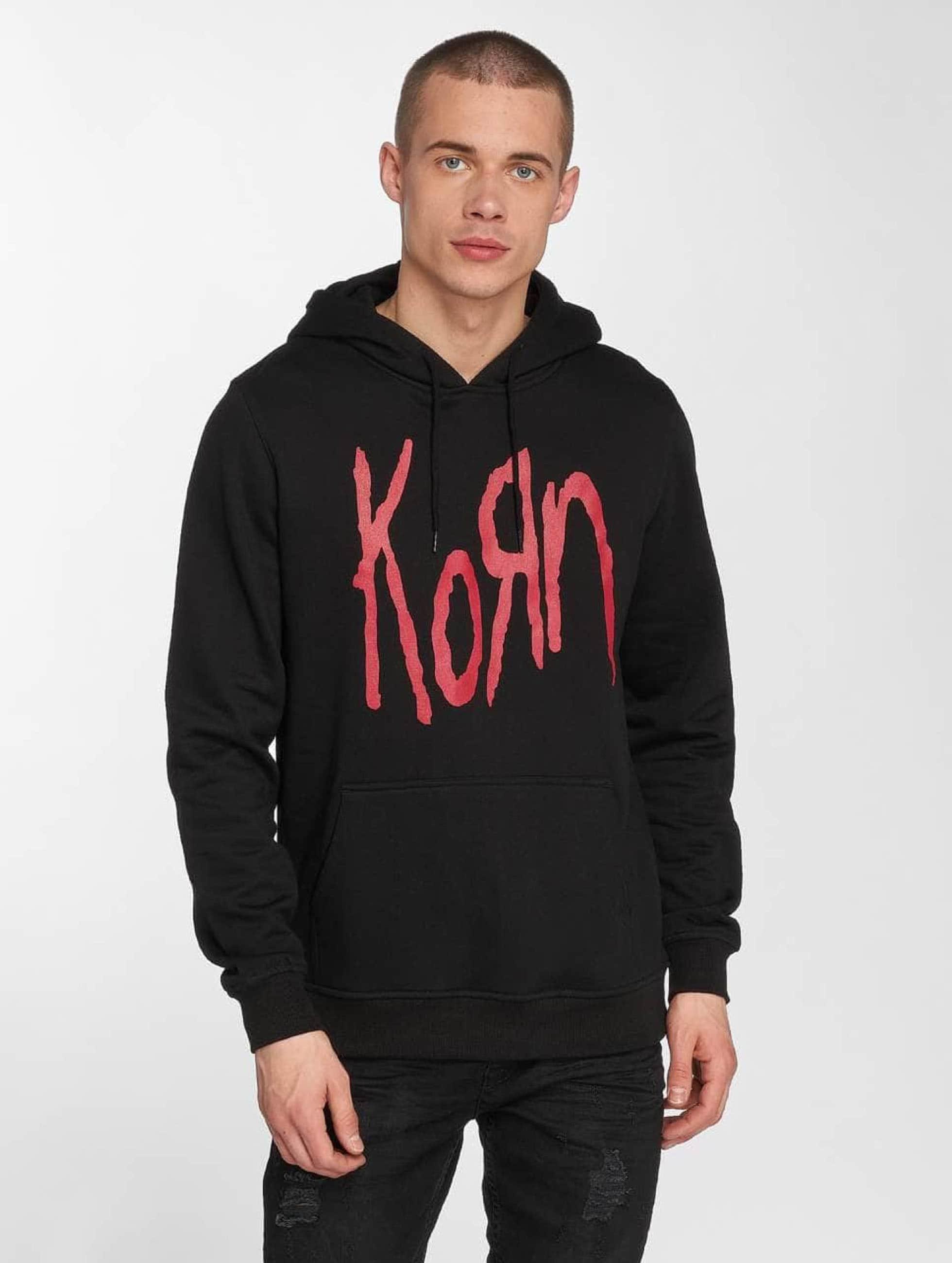 Merchcode Bluzy z kapturem Korn Logo czarny