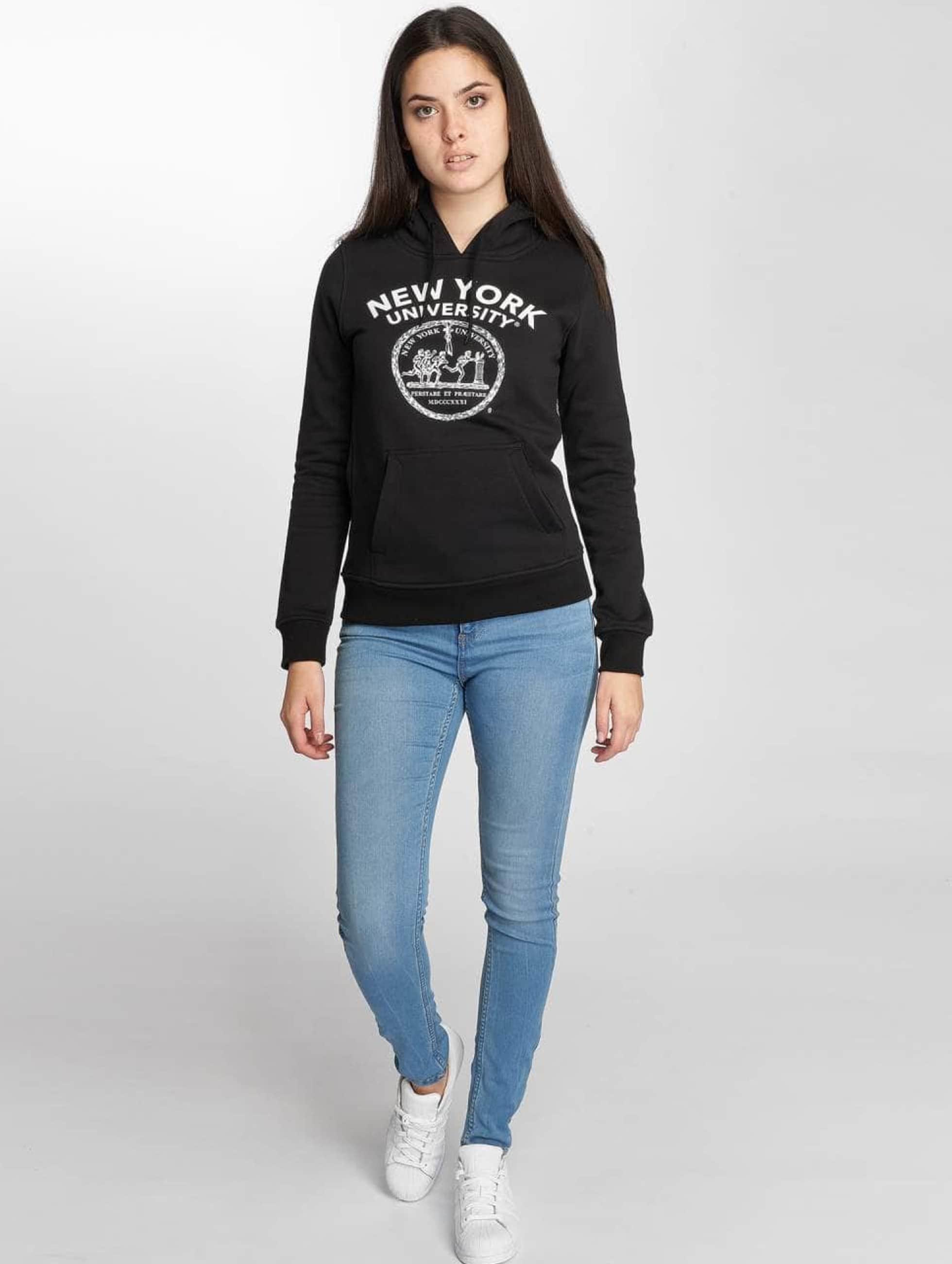Merchcode Bluzy z kapturem NYU Logo czarny