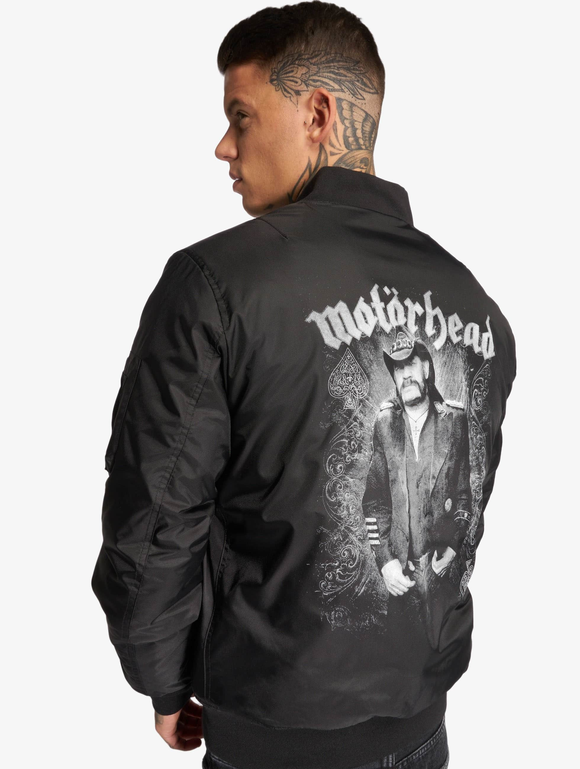 Urban Classics Merchcode Motörhead Lemmy Bomber Jacket Bomberjacke Schwarz Black