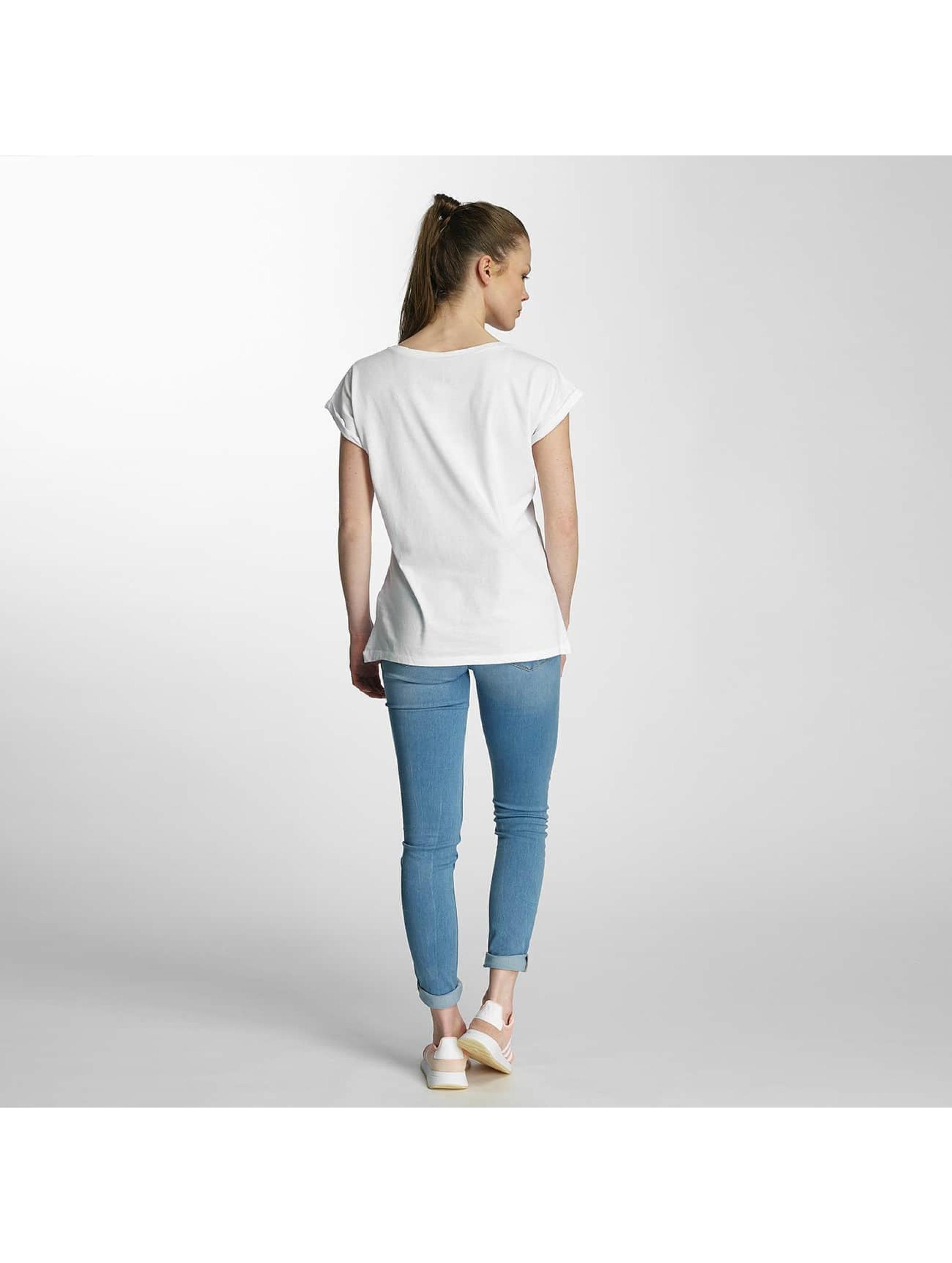 Merchcode Camiseta Ladies Banksy Panda Heart blanco