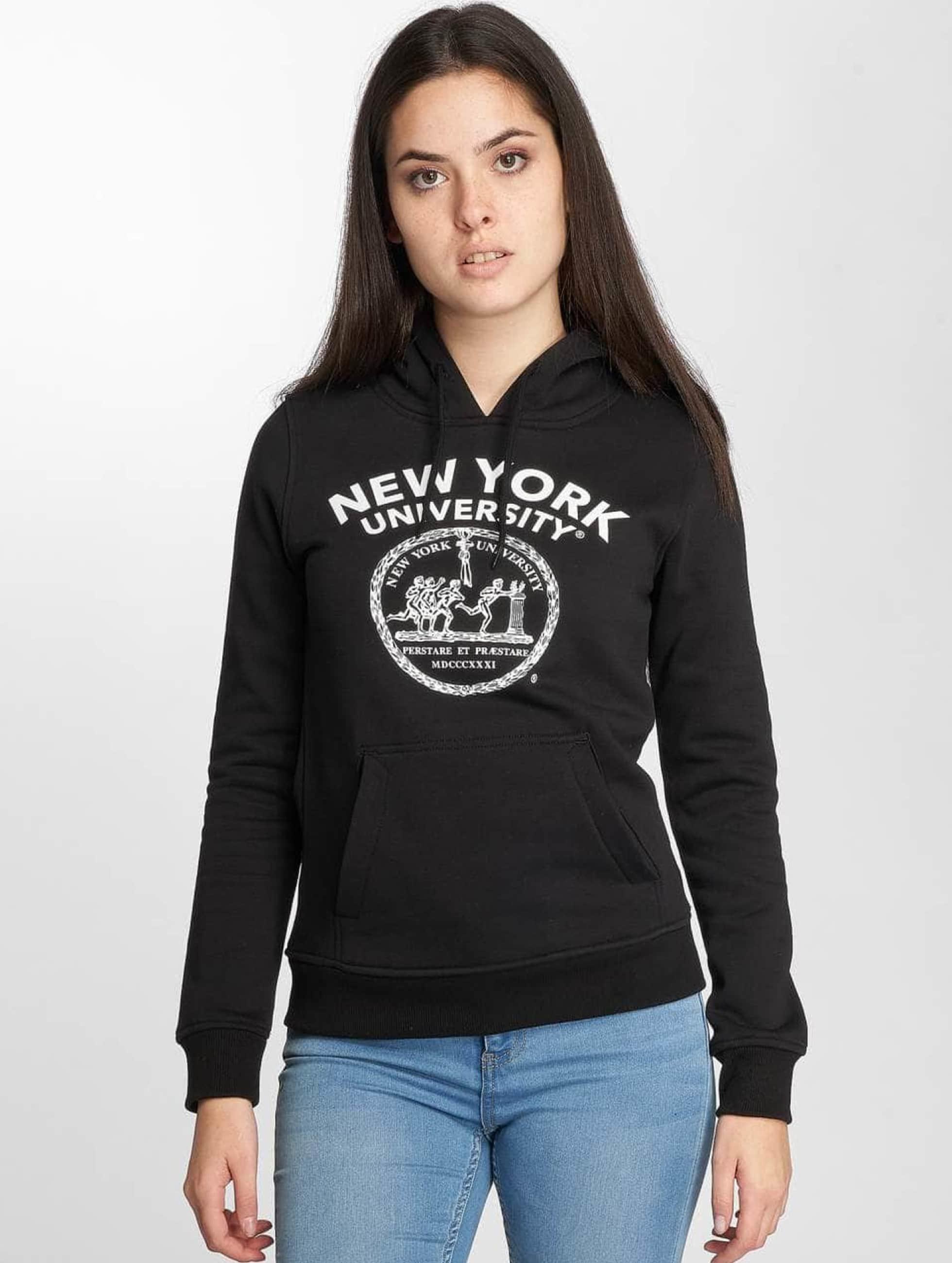 Merchcode Felpa con cappuccio NYU Logo nero