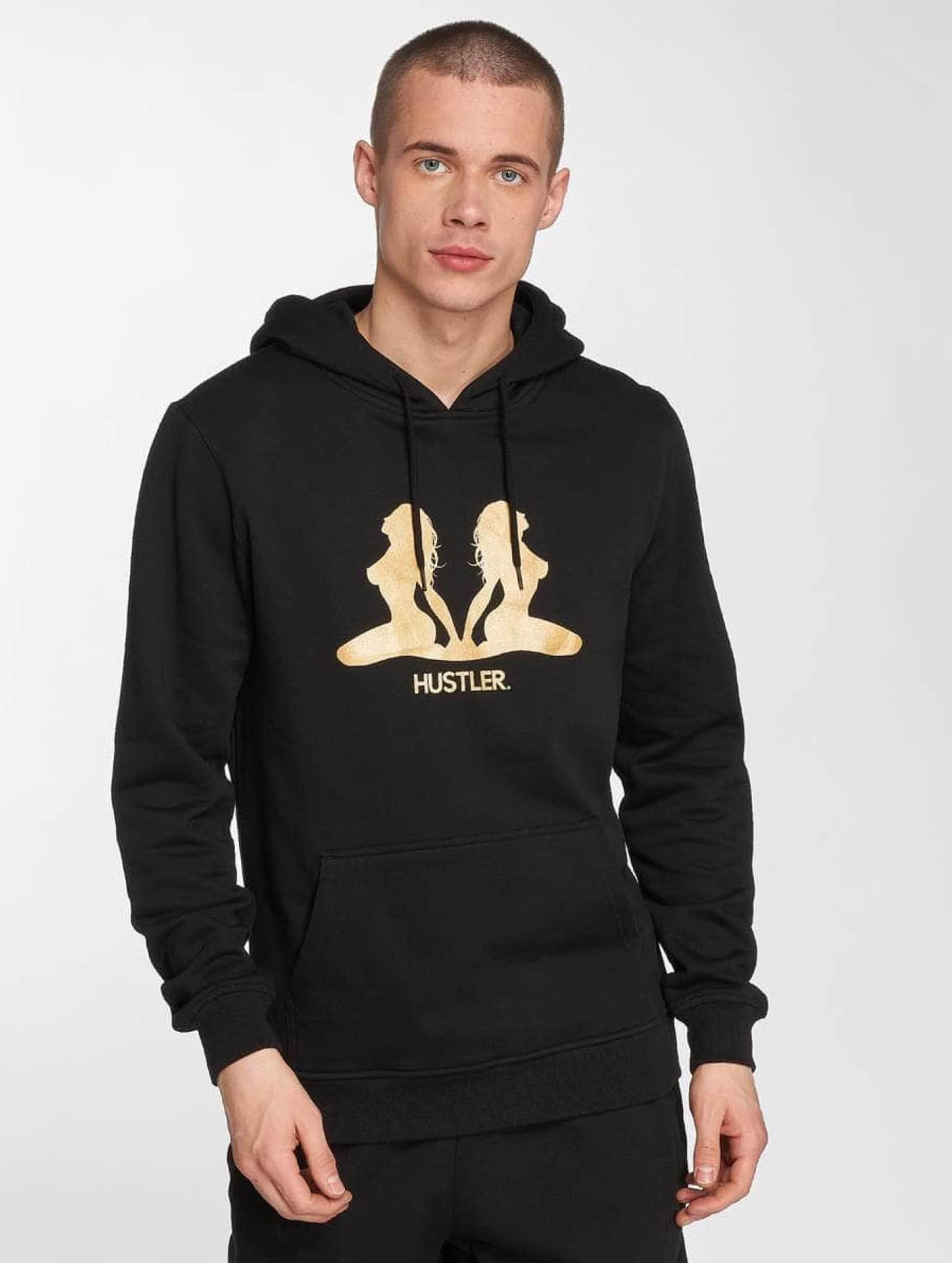 Merchcode Hoodie Hustler Golden svart