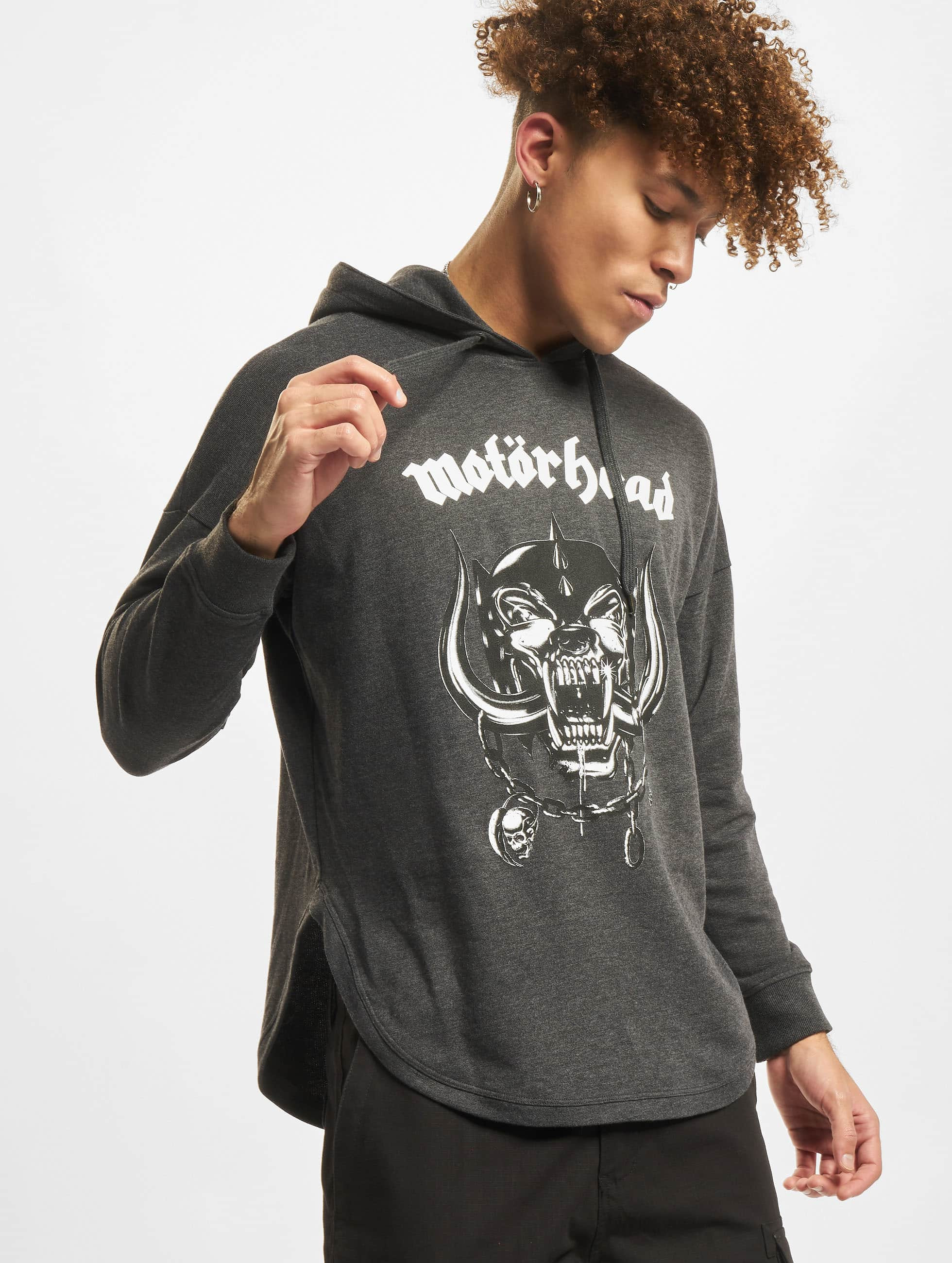 Merchcode Hoodies Motörhead Everything Louder grå
